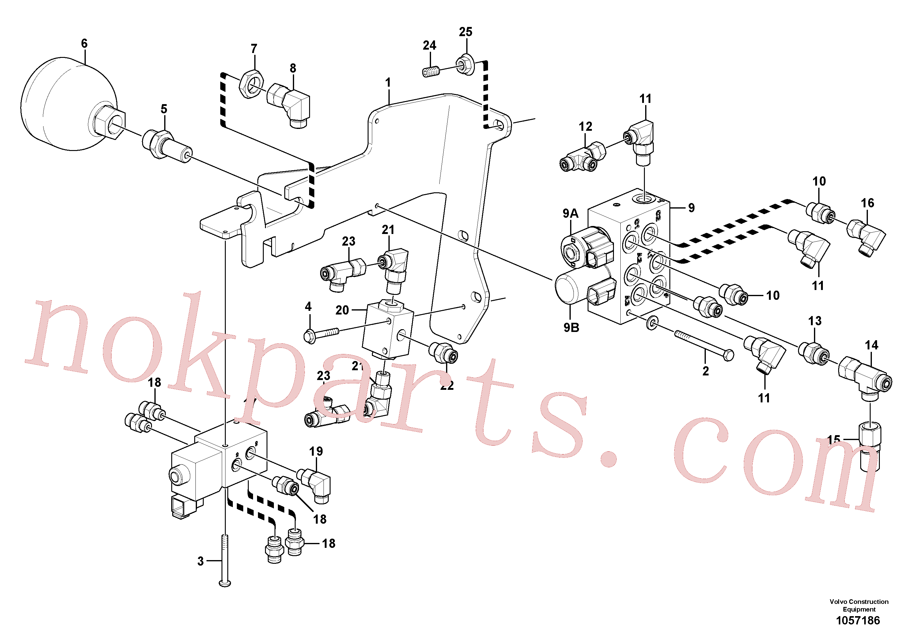 VOE935082 for Volvo Low pressure hydraulic valves(1057186 assembly)