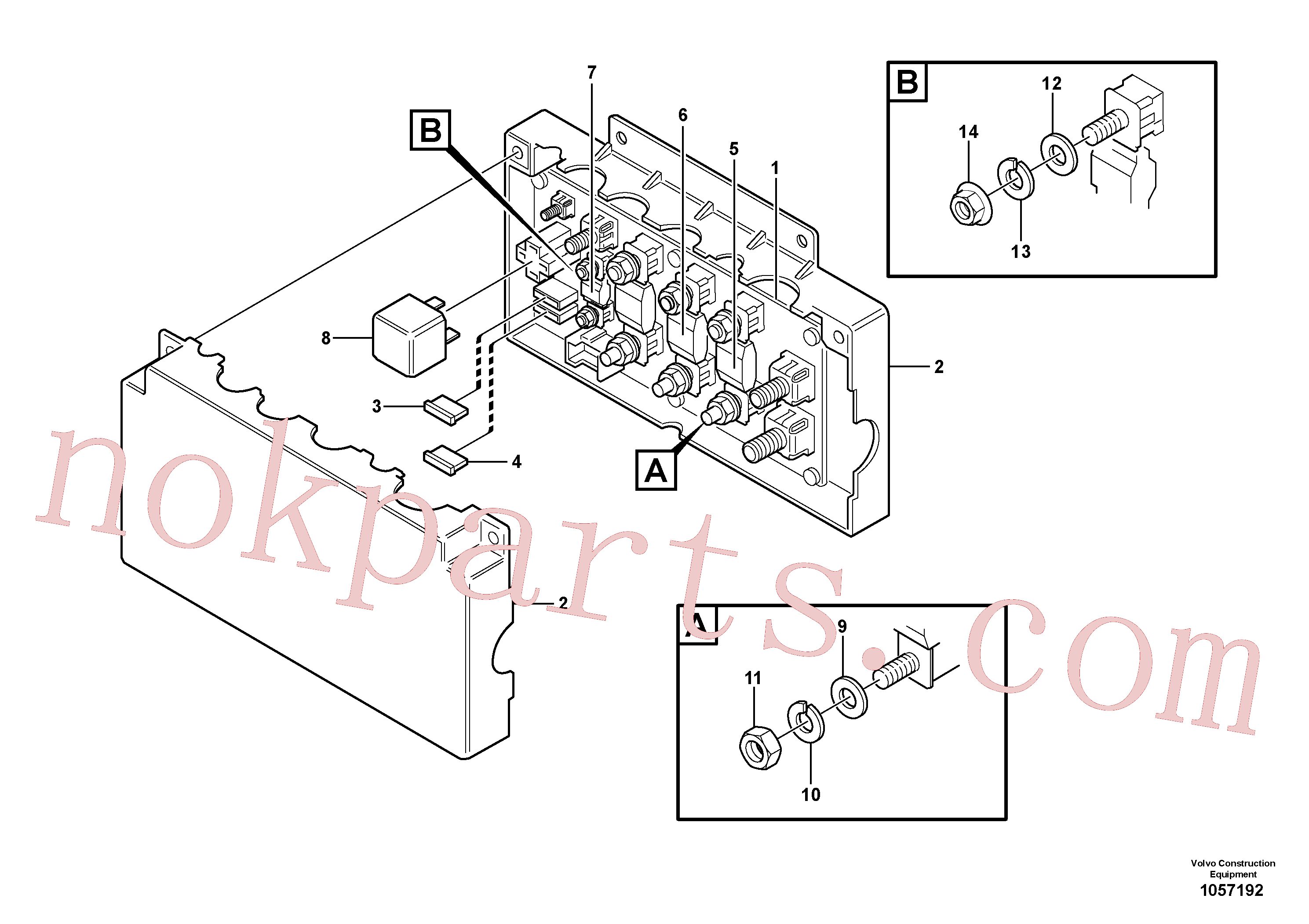 PJ5120018 for Volvo Fuse box(1057192 assembly)