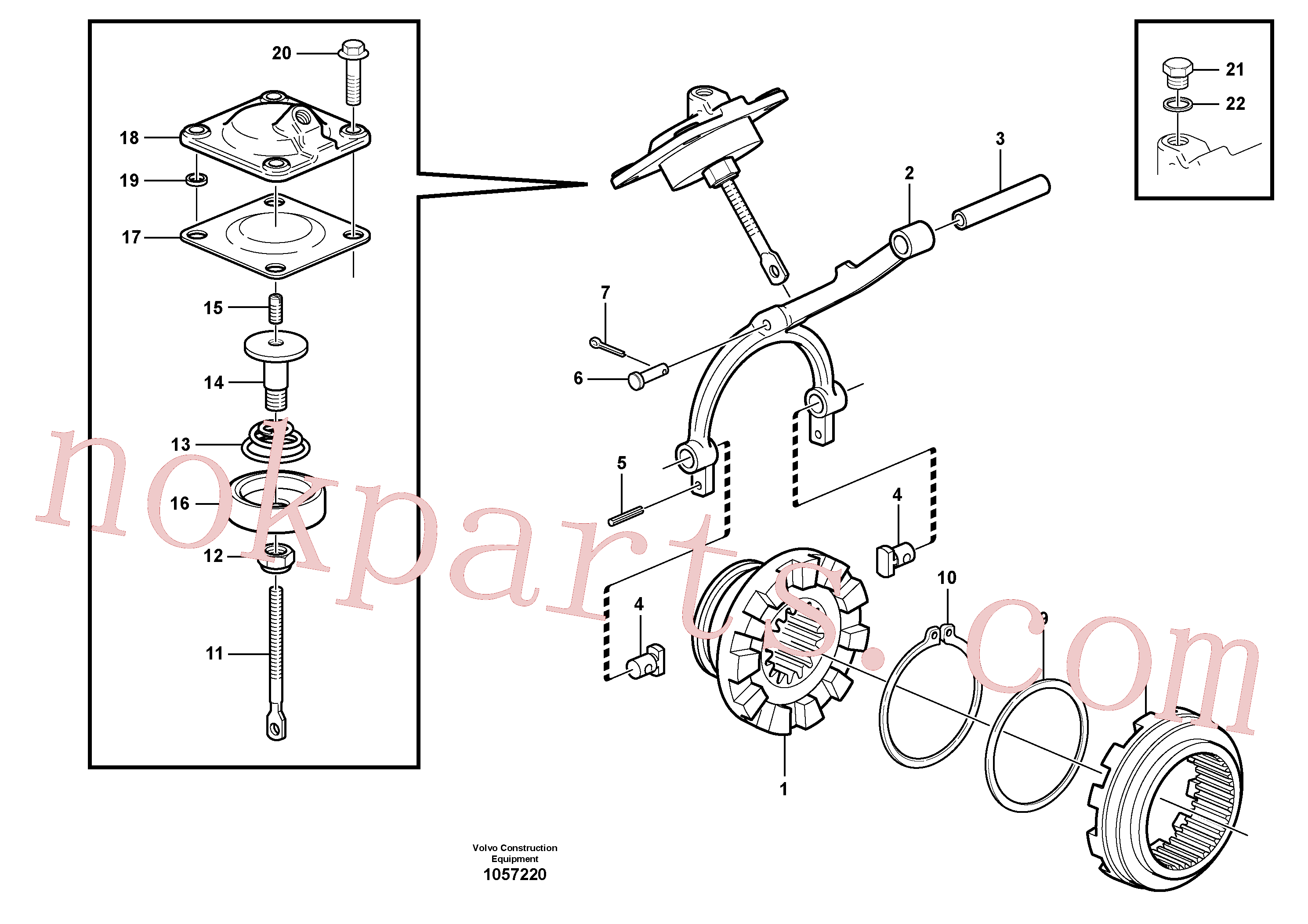 VOE1523087 for Volvo Differential lock(1057220 assembly)