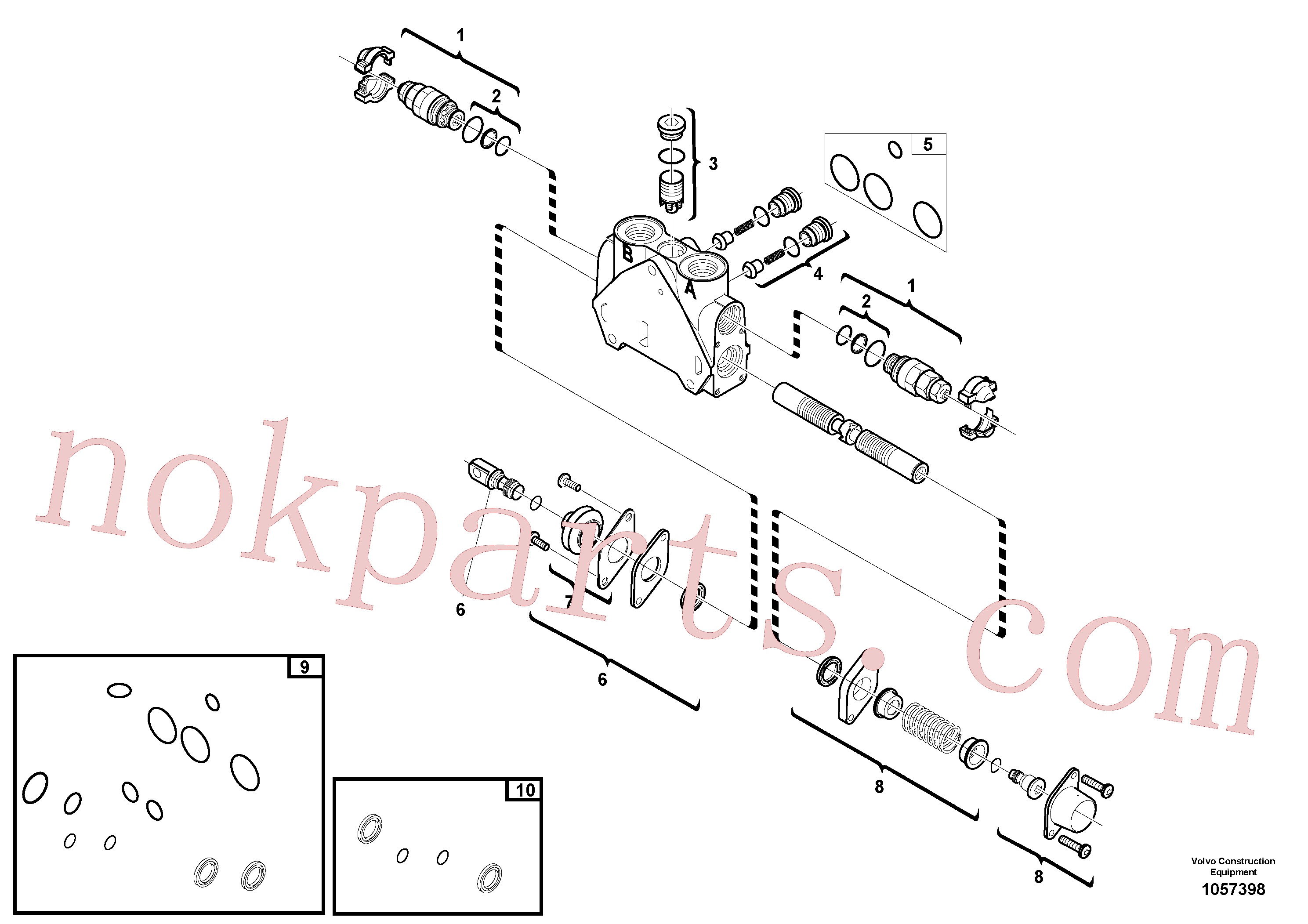 VOE15171623 for Volvo Valve section(1057398 assembly)