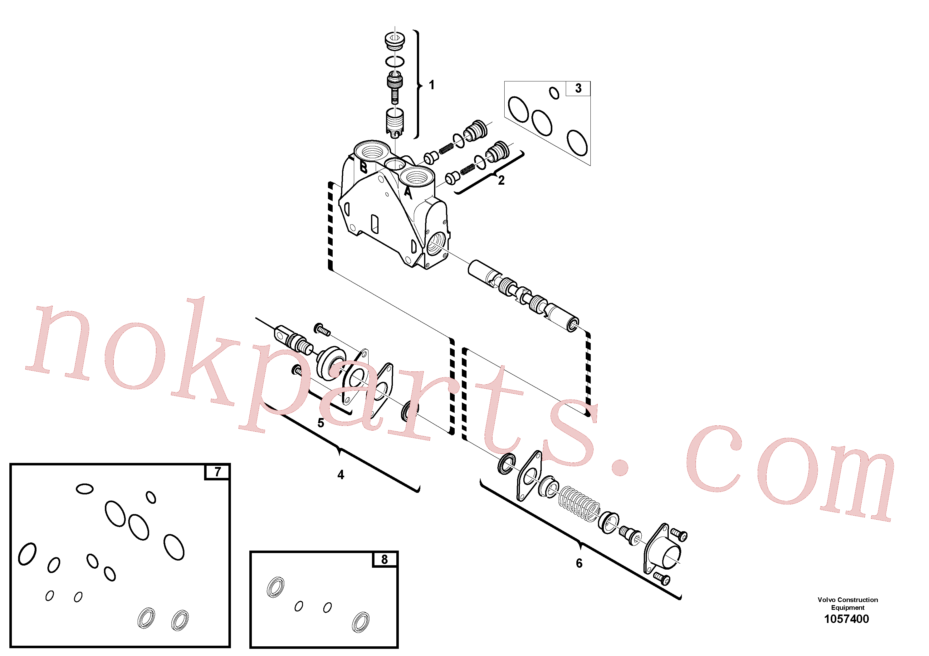 VOE15171623 for Volvo Valve section(1057400 assembly)