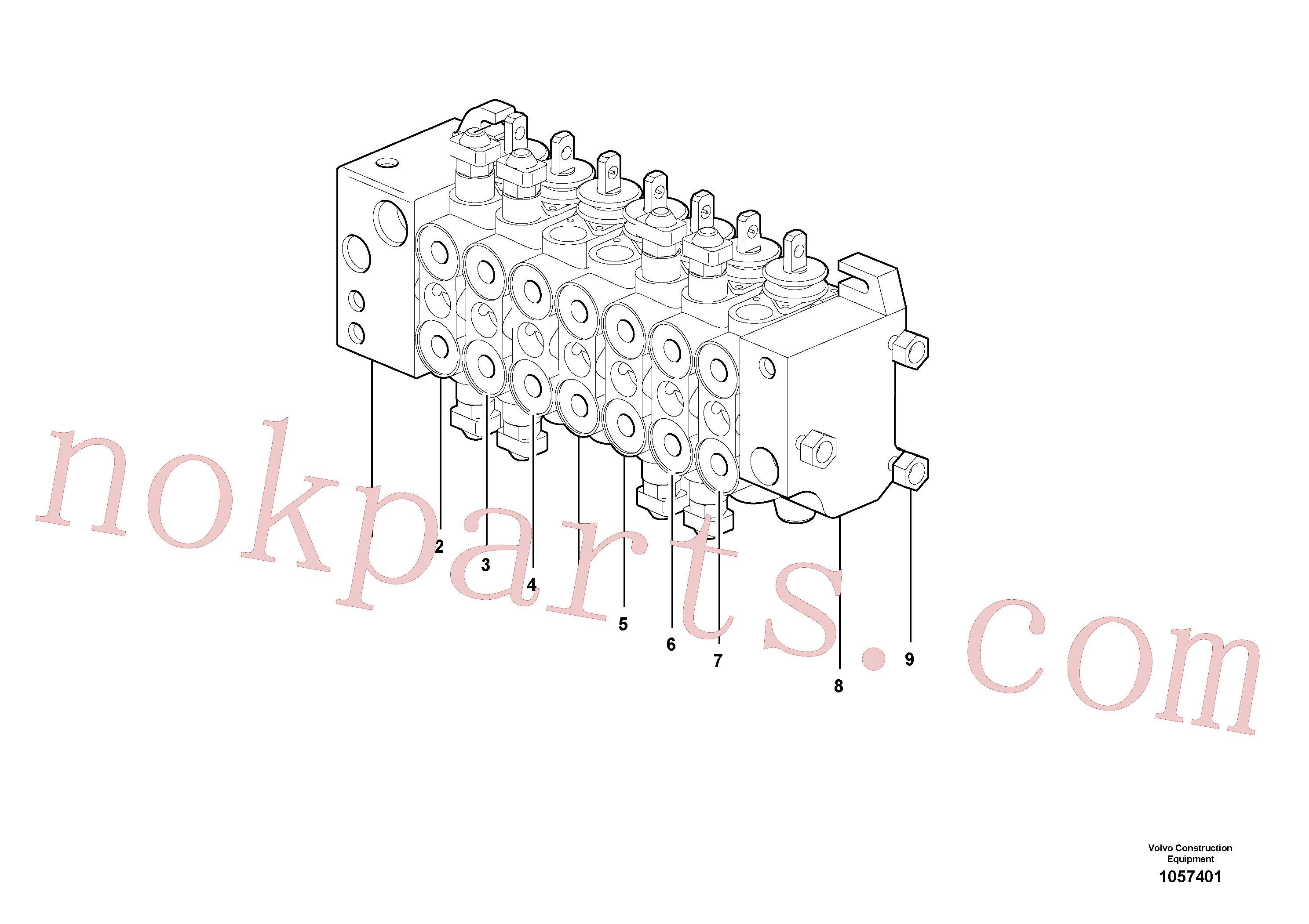 VOE15149798 for Volvo Control valve(1057401 assembly)
