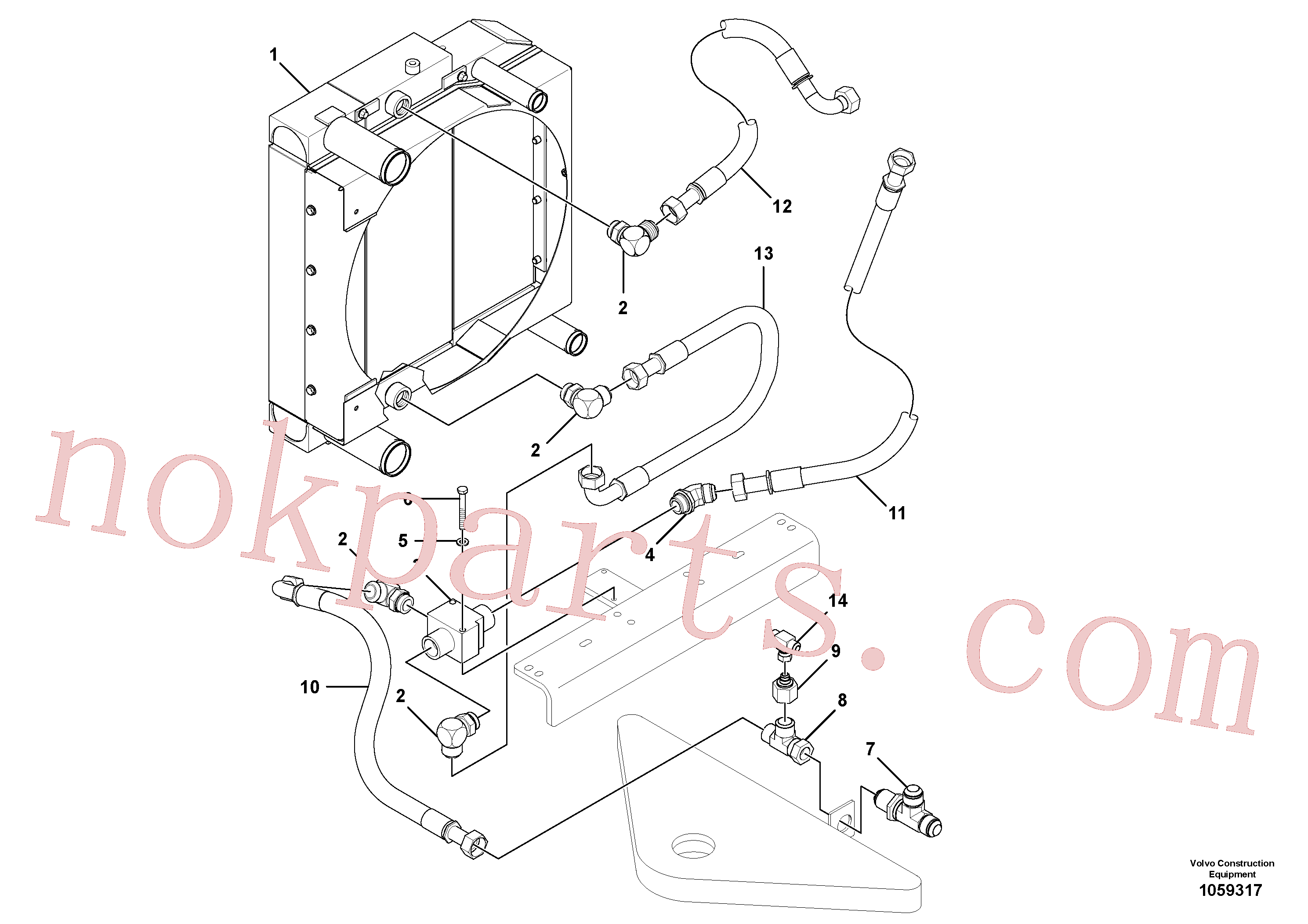 RM13205364 for Volvo Cooling system(1059317 assembly)