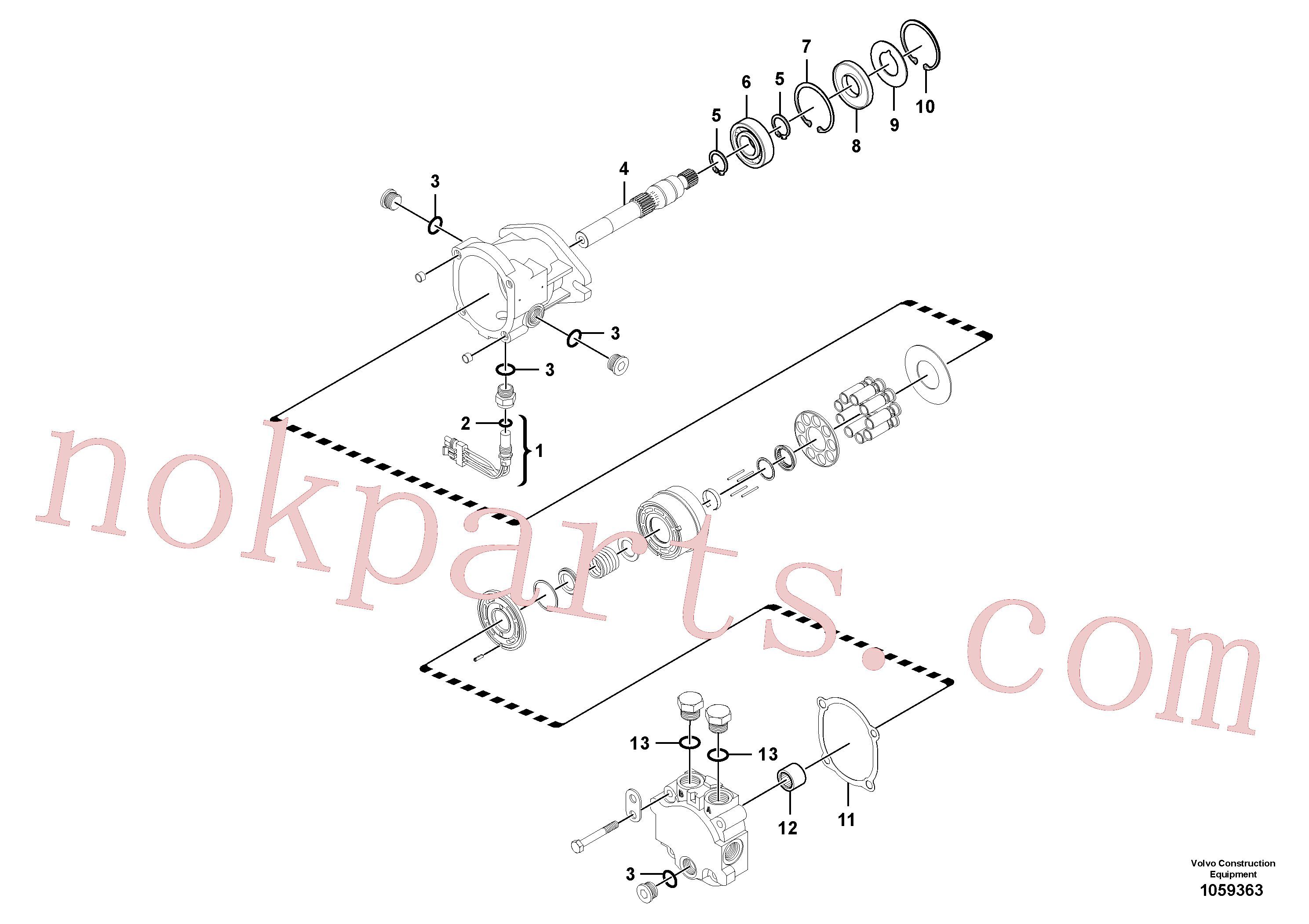 RM59785519 for Volvo Vibration Motor(1059363 assembly)