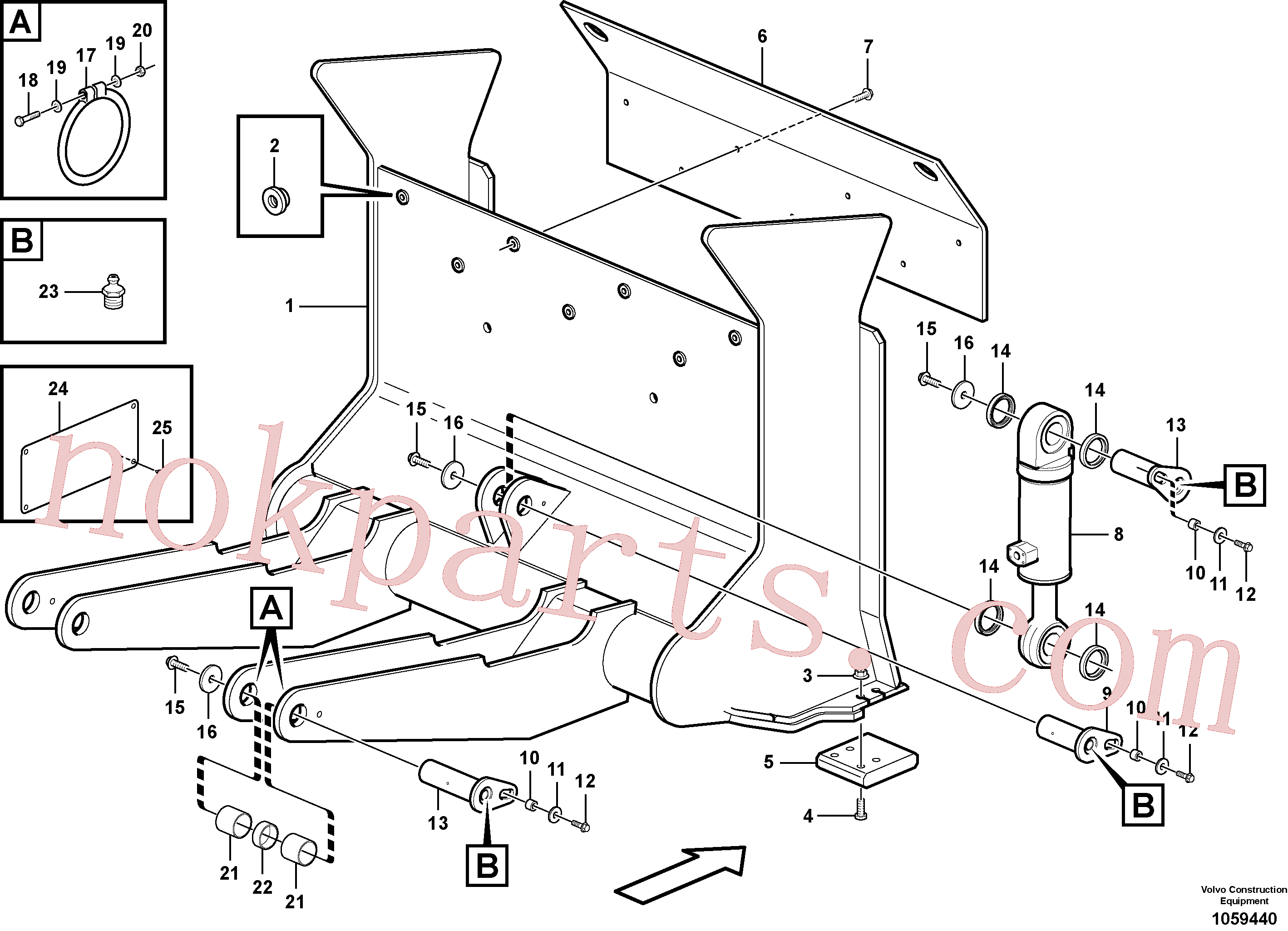 VOE11704121 for Volvo Timber shover(1059440 assembly)