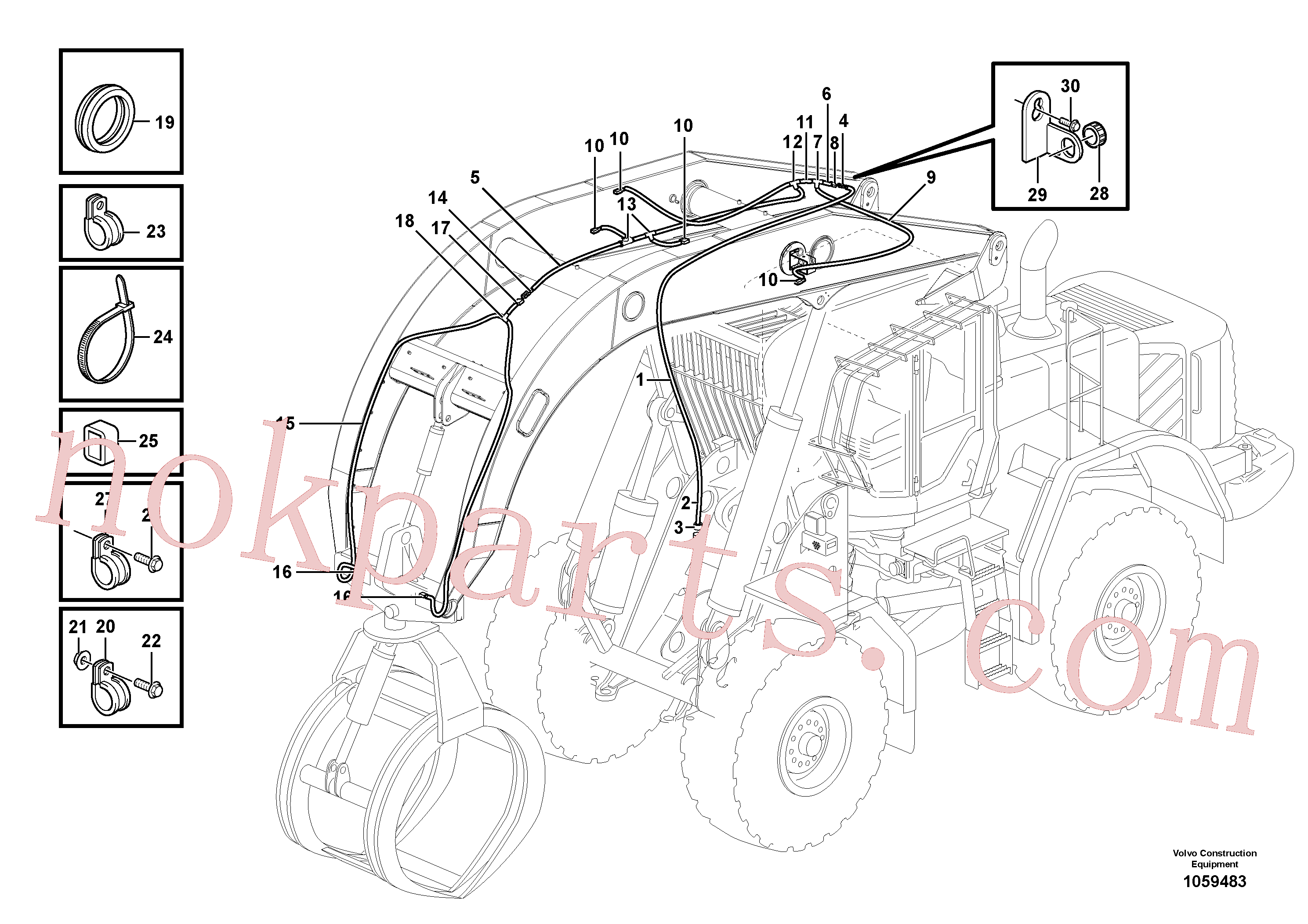 VOE946834 for Volvo Cable harness for high lift(1059483 assembly)