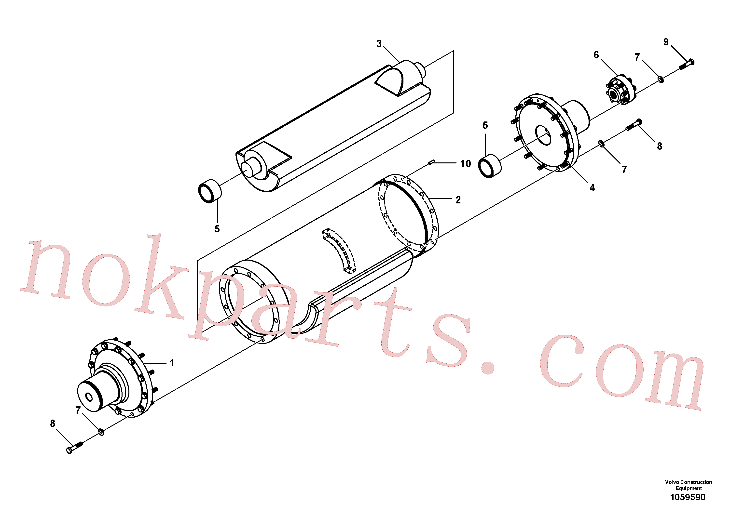 RM96702428 for Volvo Eccentric Shaft Assembly(1059590 assembly)