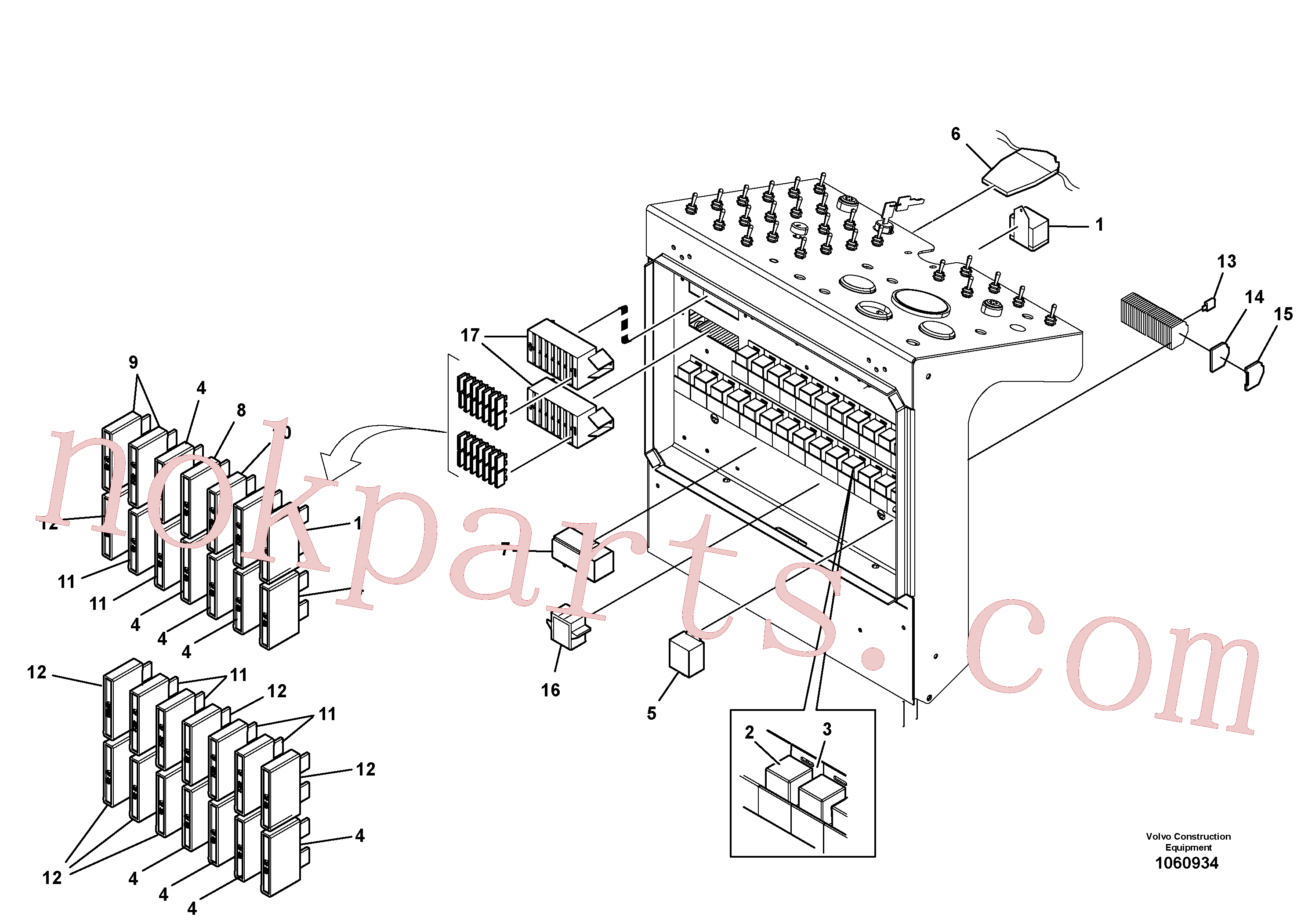 PJ5120018 for Volvo Electrical Control Panel Installation(1060934 assembly)