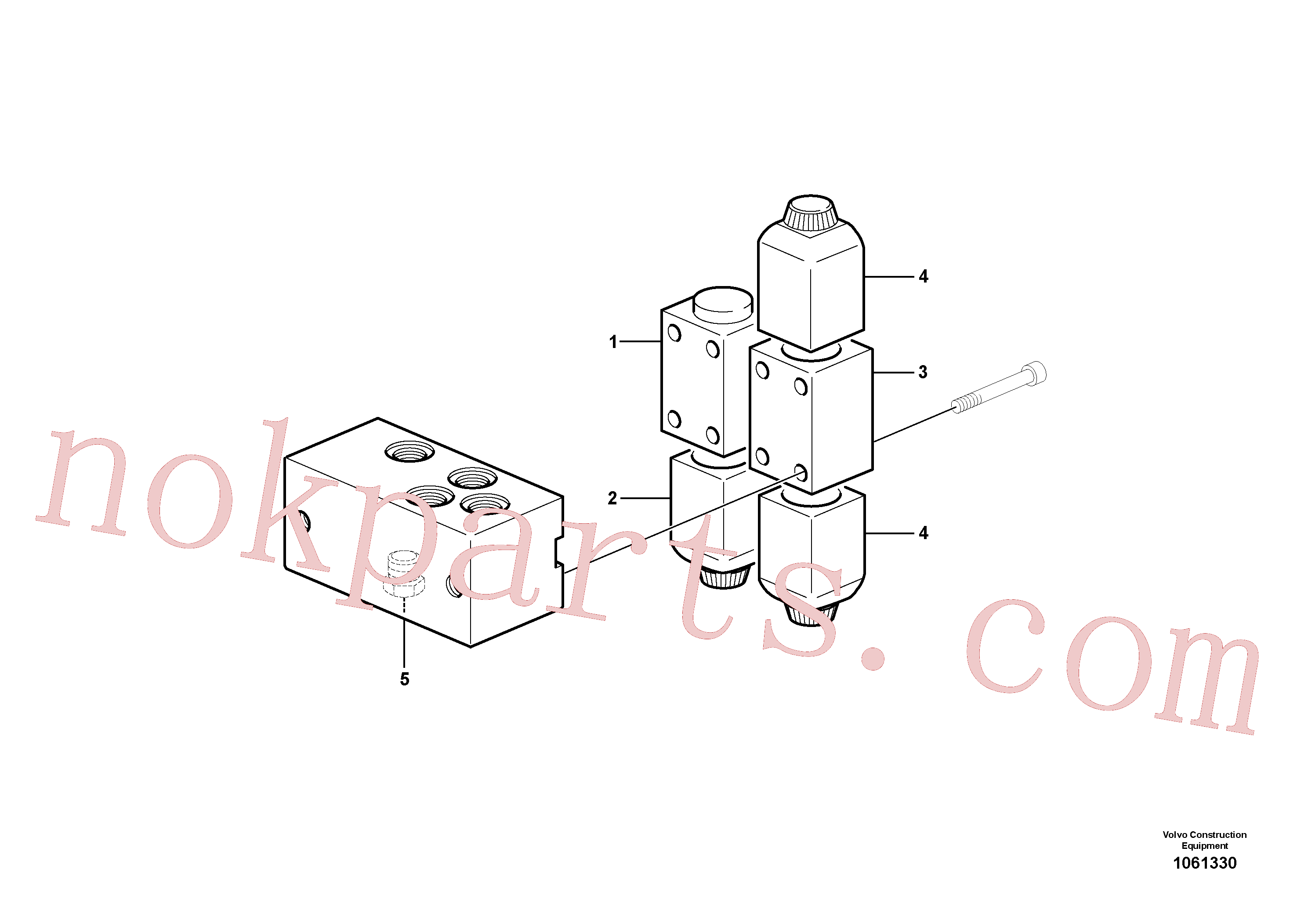 VOE11173166 for Volvo Valve(1061330 assembly)