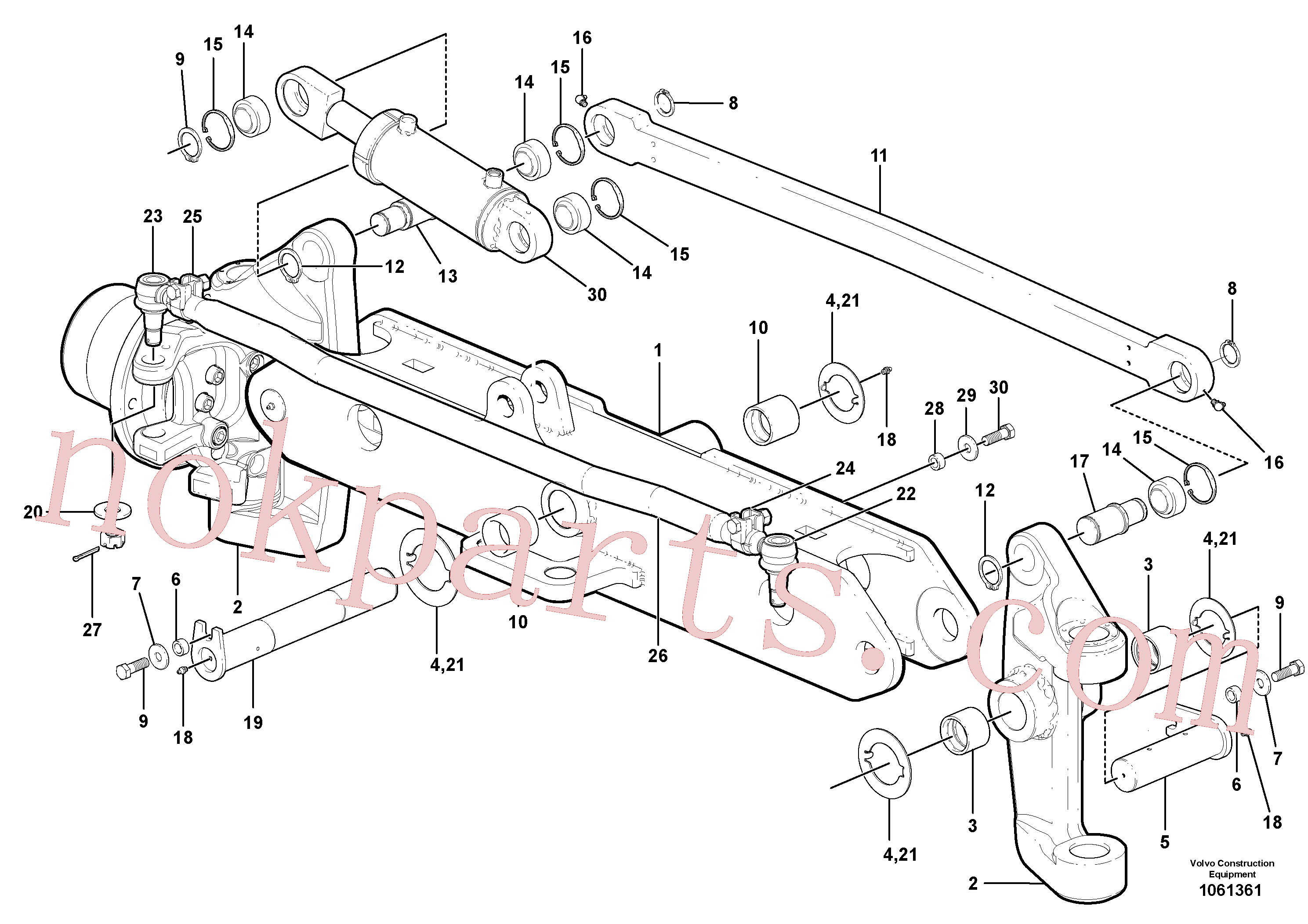 RM14085005 for Volvo Front axle(1061361 assembly)