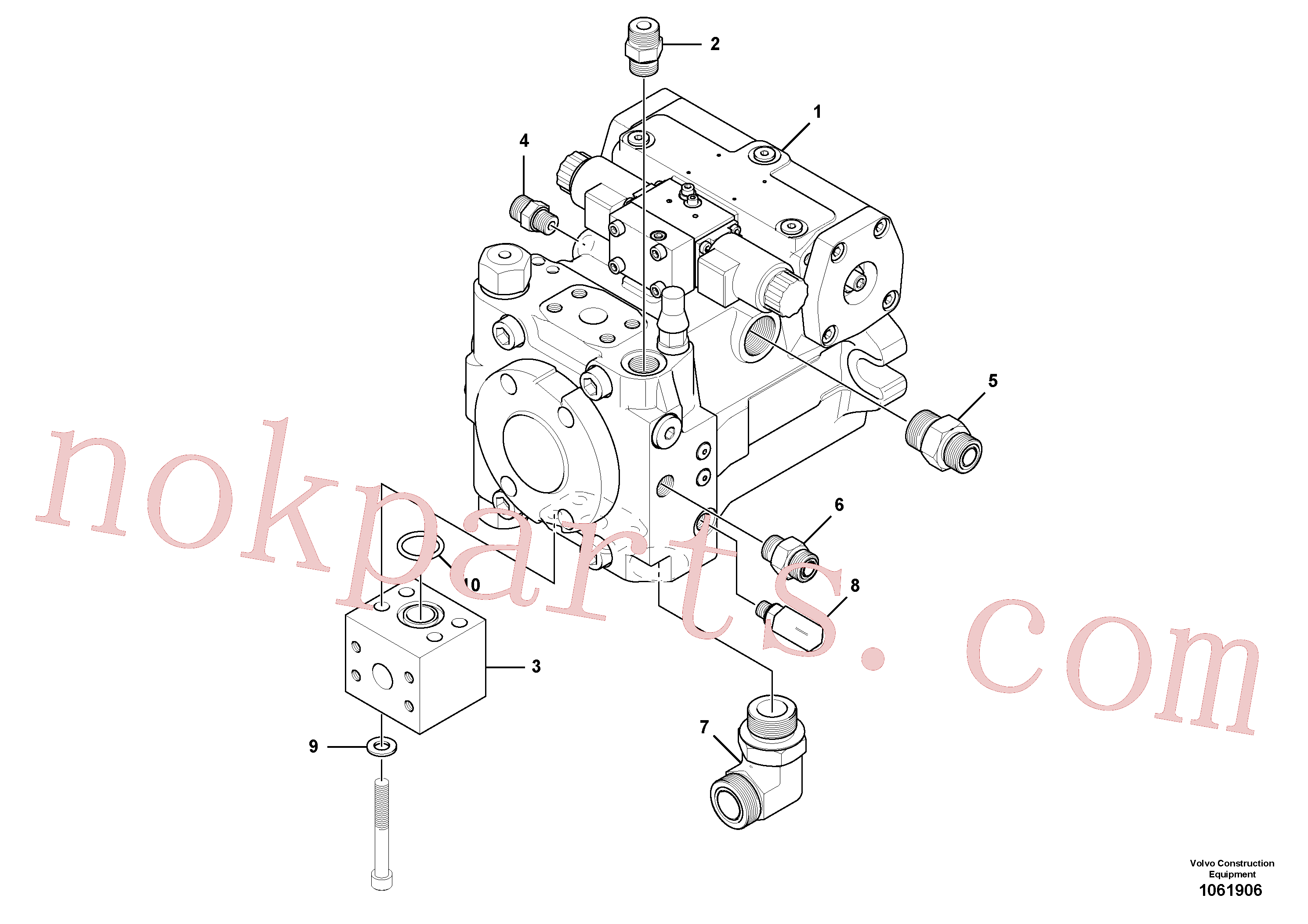 RM13866280 for Volvo Propulsion Pump Assembly(1061906 assembly)