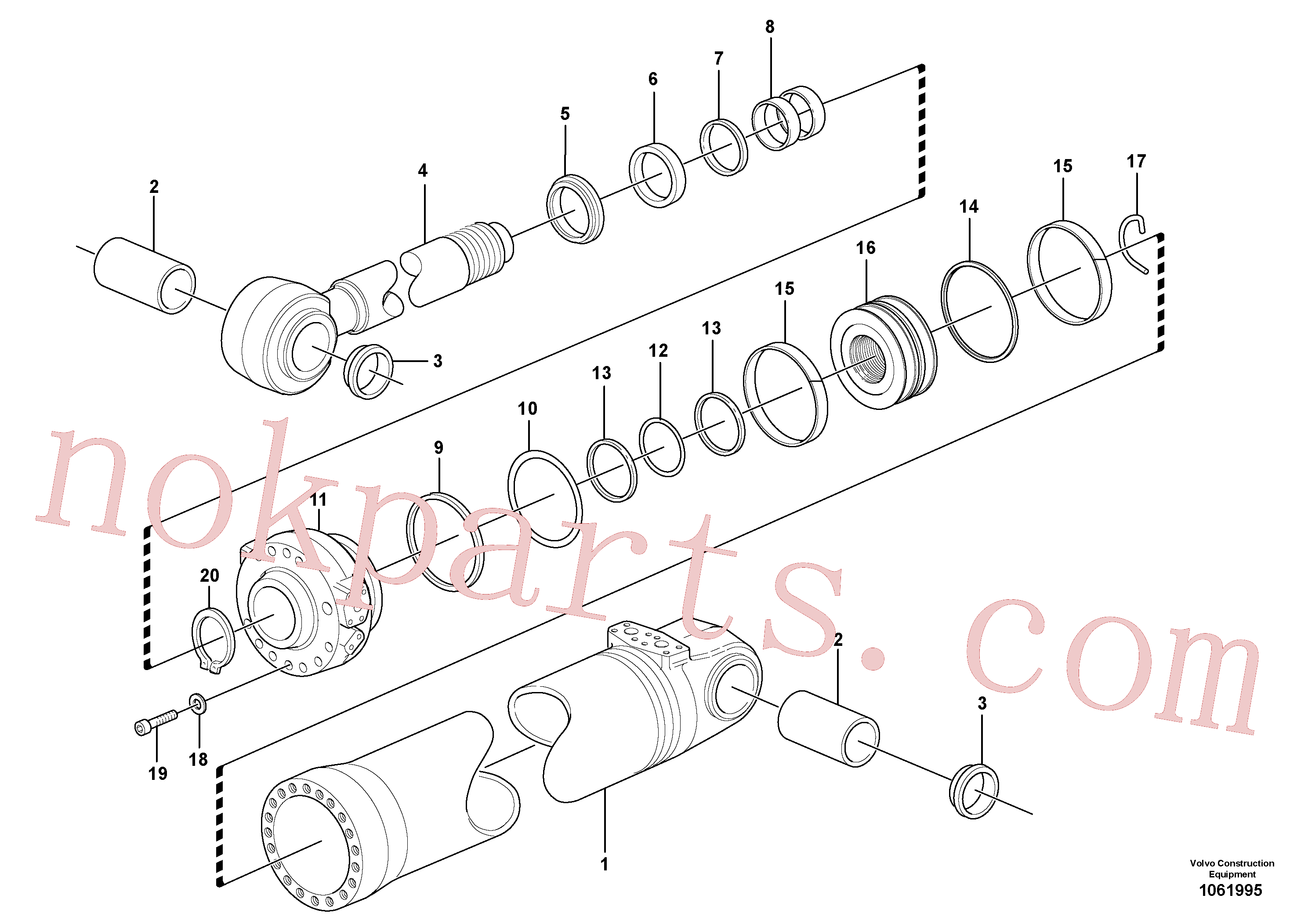 VOE962509 for Volvo Hydraulic cylinder, tilting(1061995 assembly)