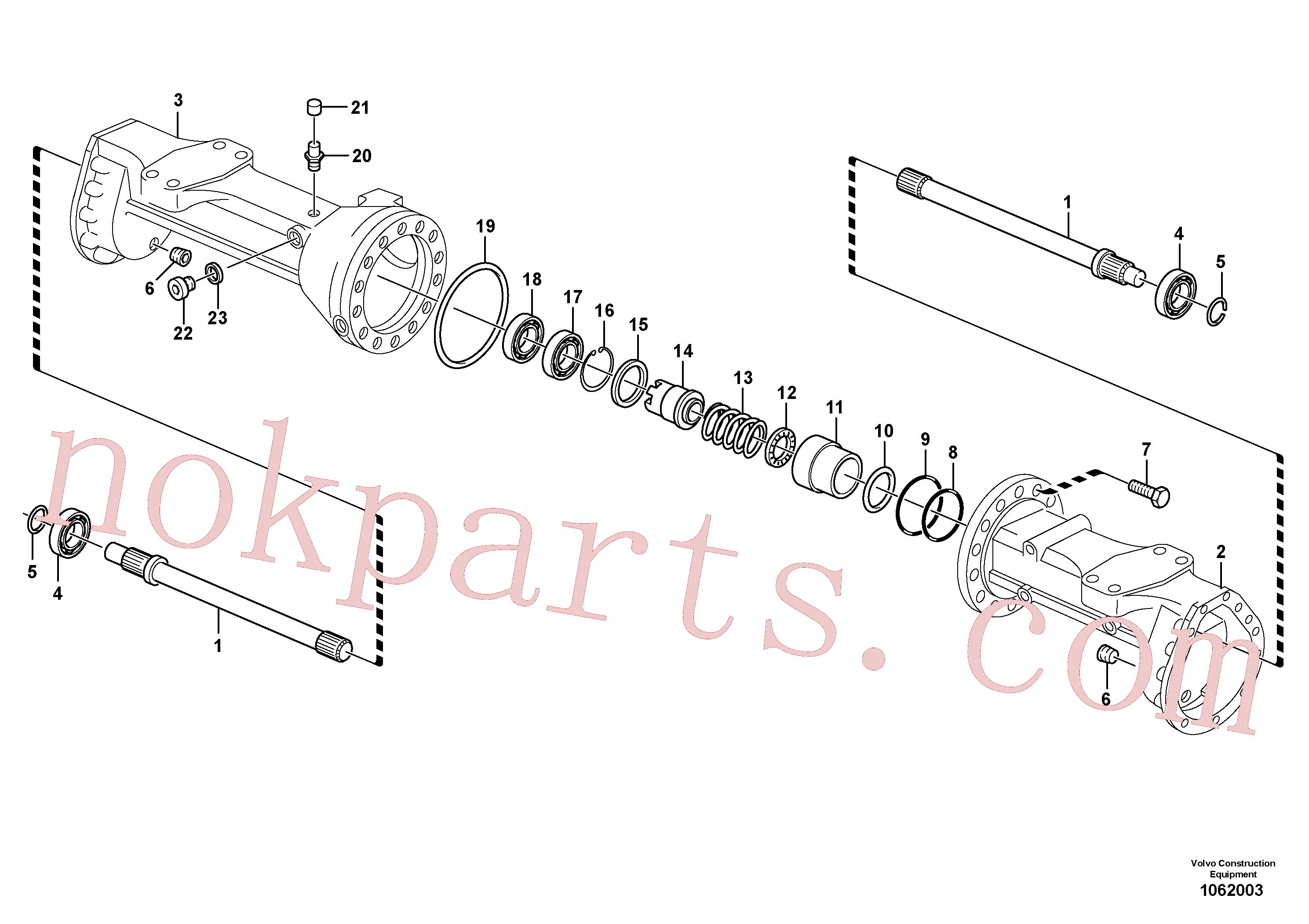 VOE15072314 for Volvo Housing - front axle(1062003 assembly)