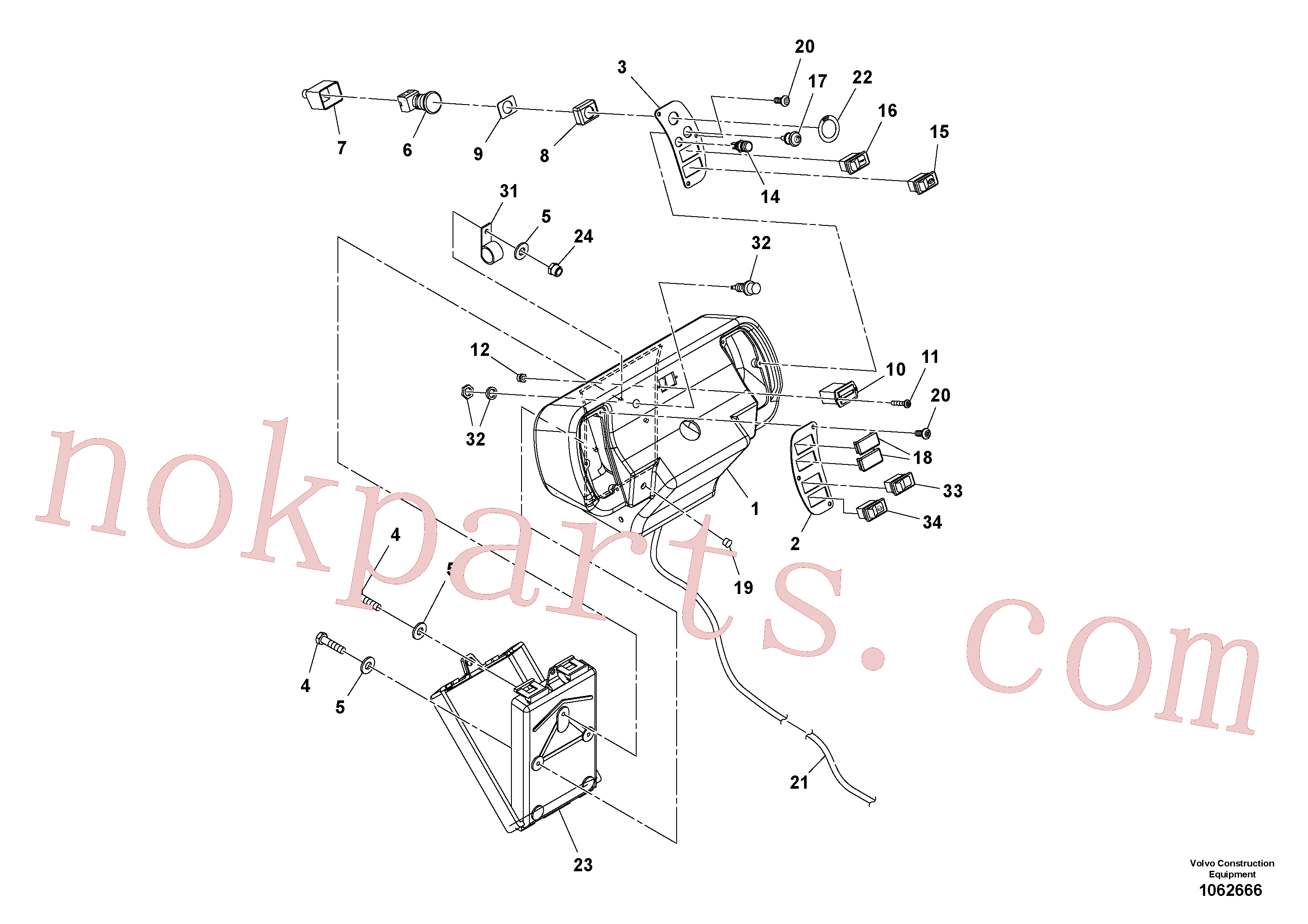VOE12787620 for Volvo Console Assembly(1062666 assembly)