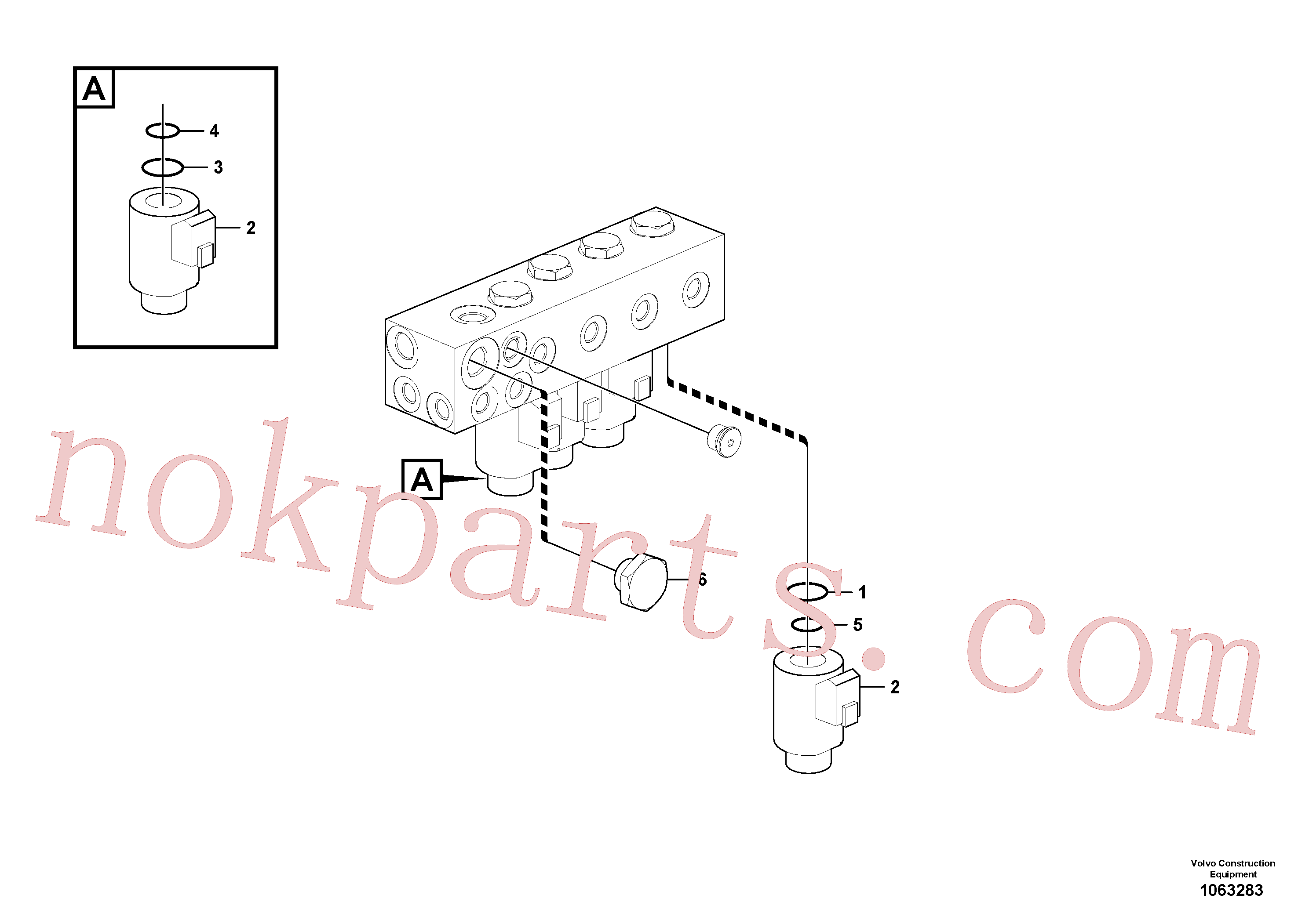SA8230-00430 for Volvo Valve(1063283 assembly)