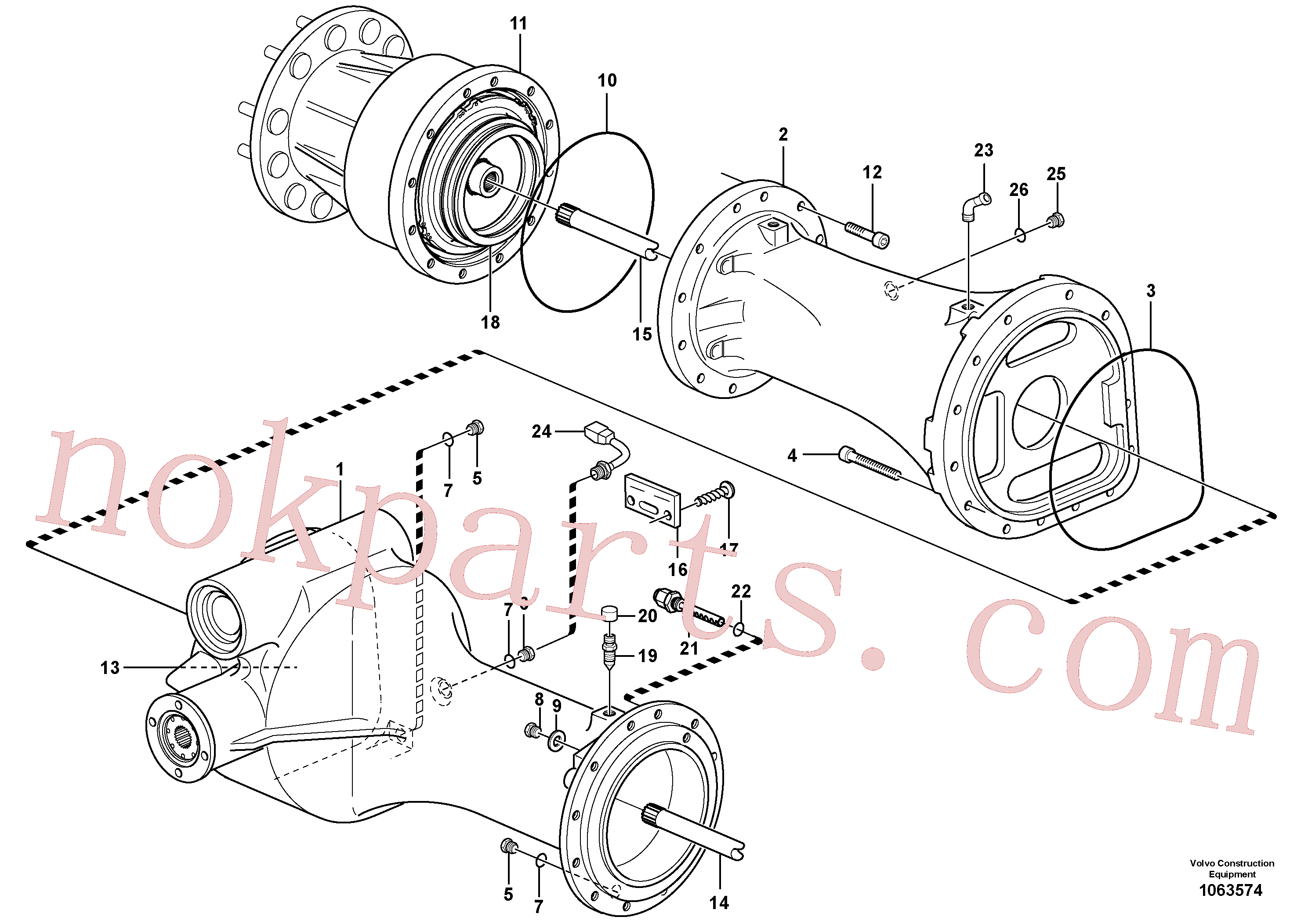 VOE950891 for Volvo Planet shaft, rear(1063574 assembly)