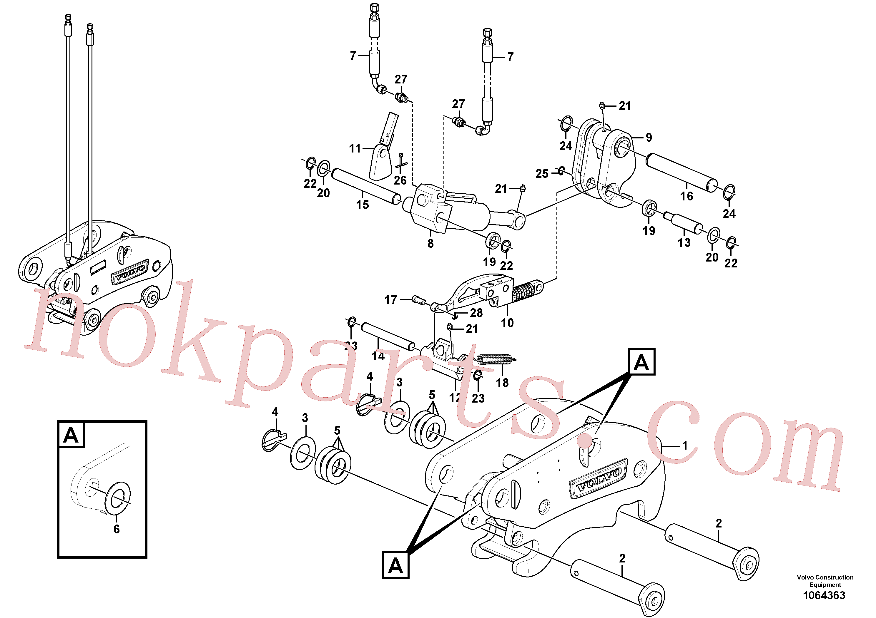VOE17415395 for Volvo Hydraulic attachment bracket(1064363 assembly)