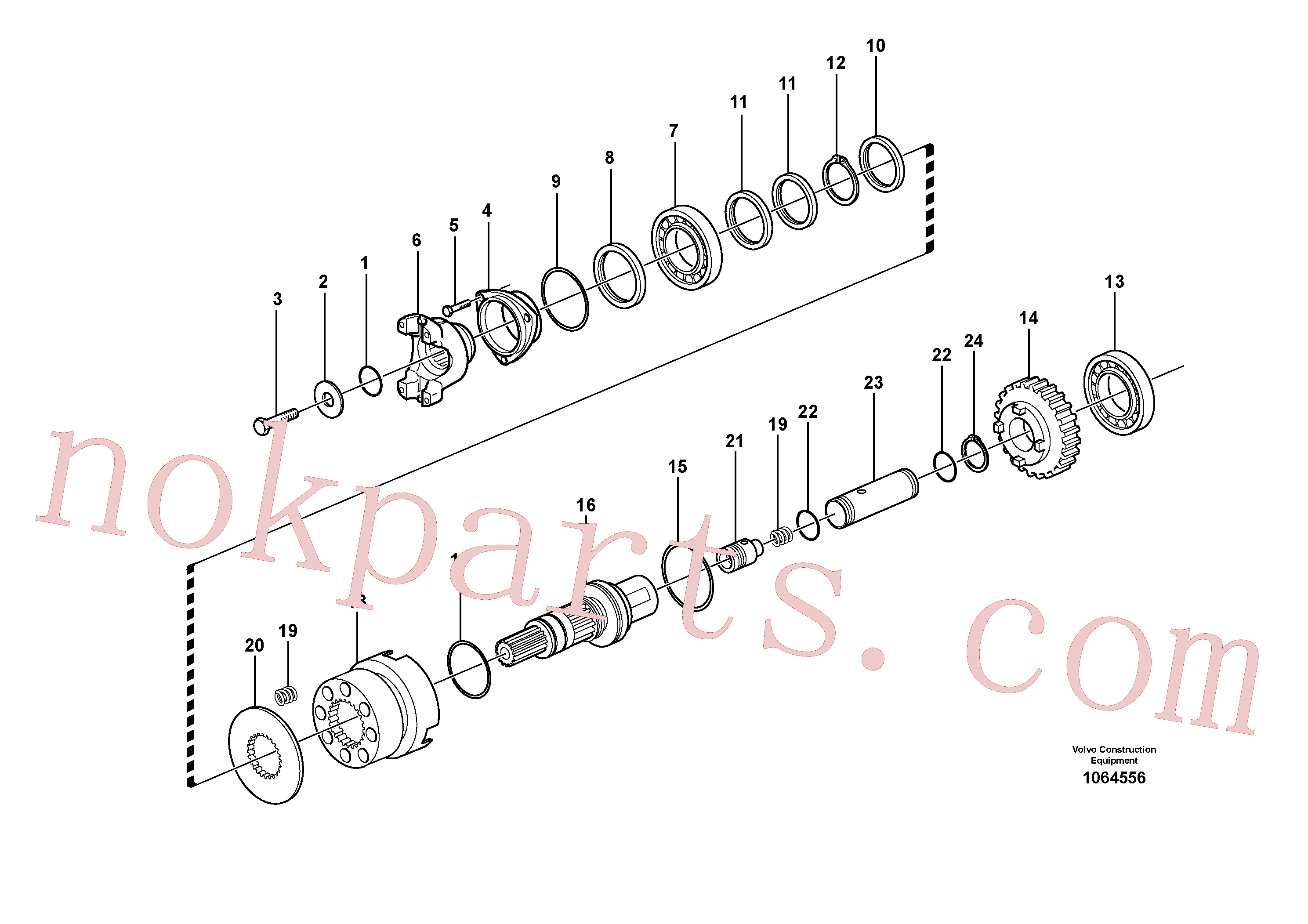 VOE15086029 for Volvo Axle, four-wheel drive, Hydraulic clutch, 4wd(1064556 assembly)