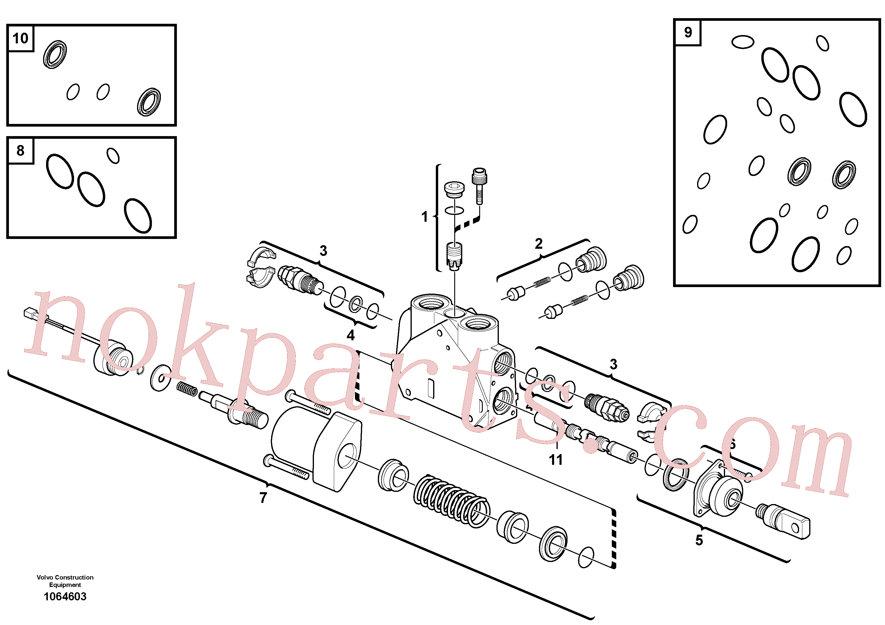VOE15171623 for Volvo Valve section(1064603 assembly)