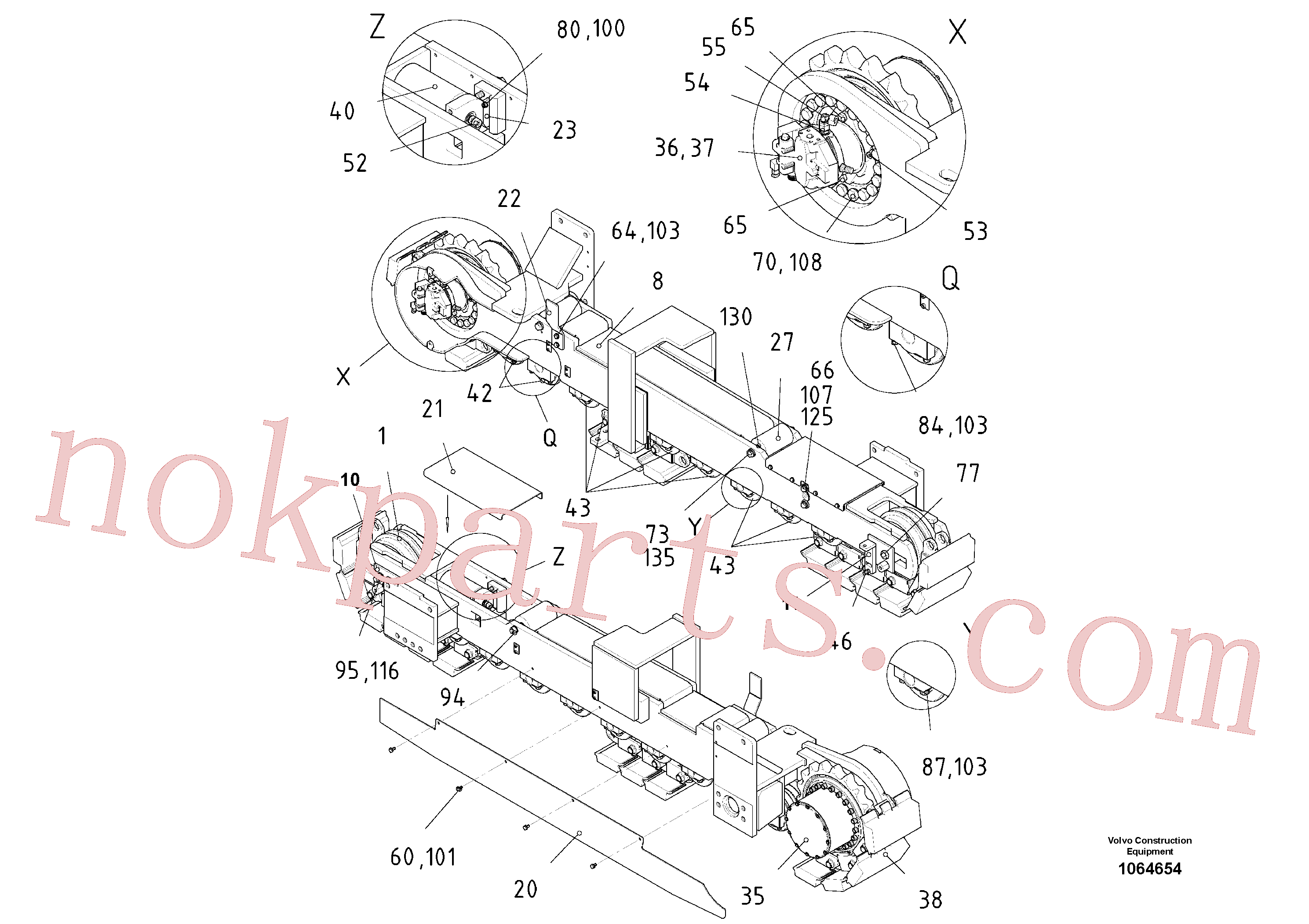 RM96725130 for Volvo Crawler unit(1064654 assembly)