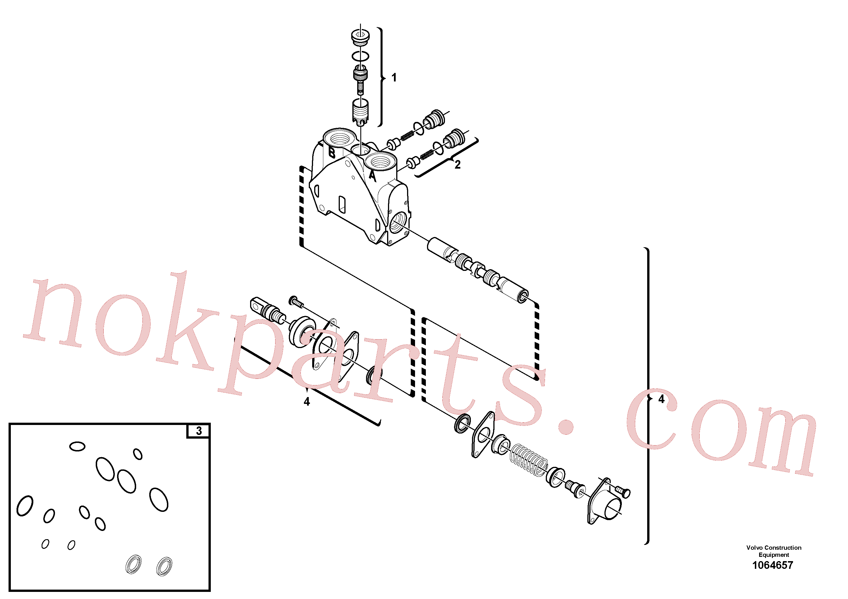 VOE15171623 for Volvo Valve section(1064657 assembly)