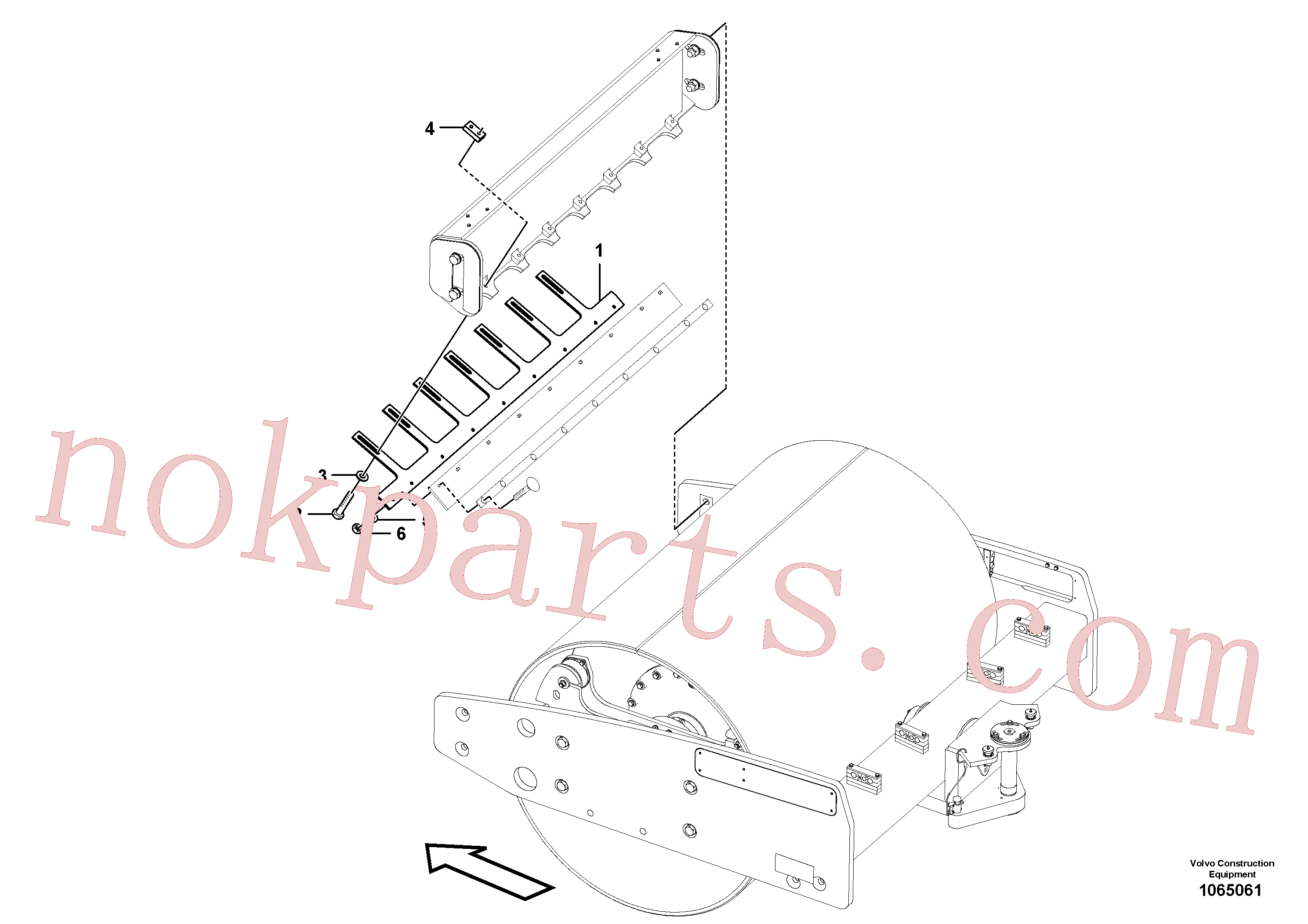 RM96721873 for Volvo Drum Scraper Installation(1065061 assembly)