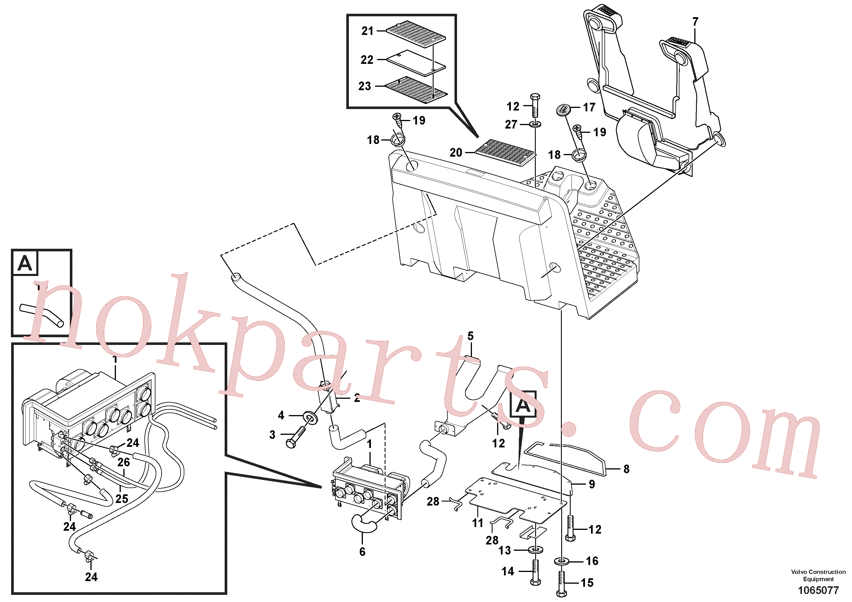 VOE14015095 for Volvo Heater Installation(1065077 assembly)