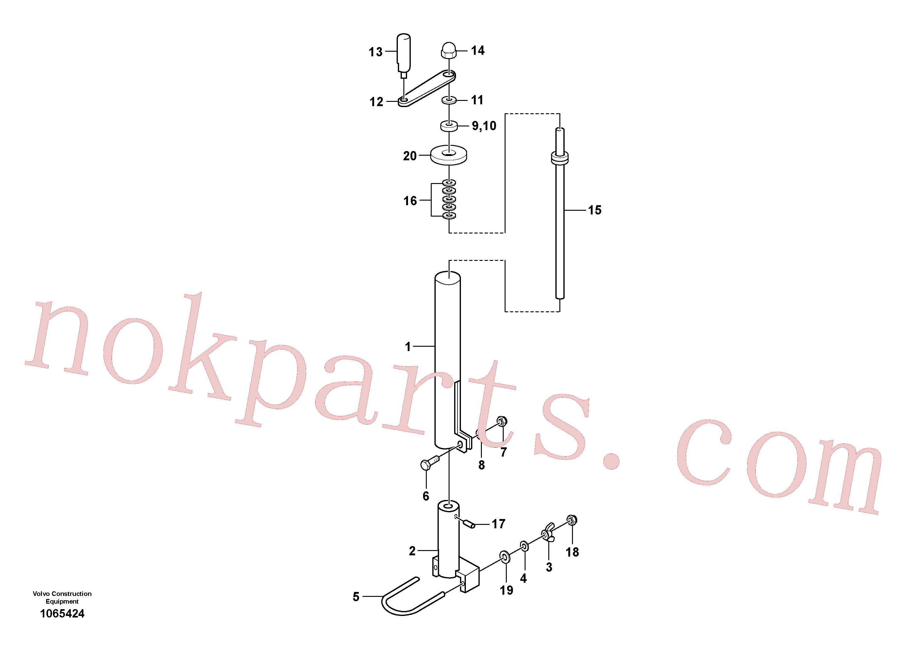 RM80811615 for Volvo Mechanical Control Assembly(1065424 assembly)