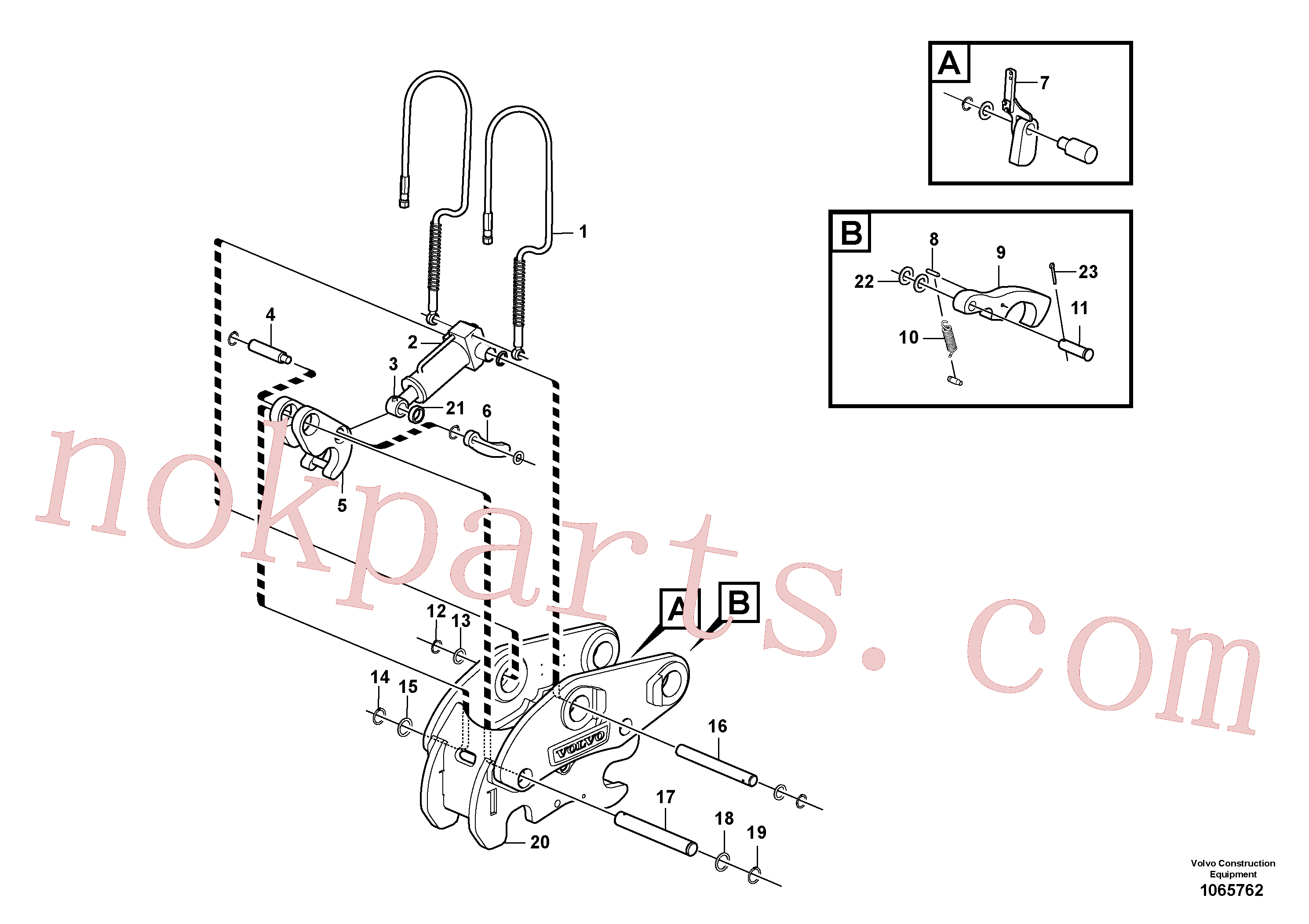VOE17415395 for Volvo Attachment bracket, quickfit(1065762 assembly)