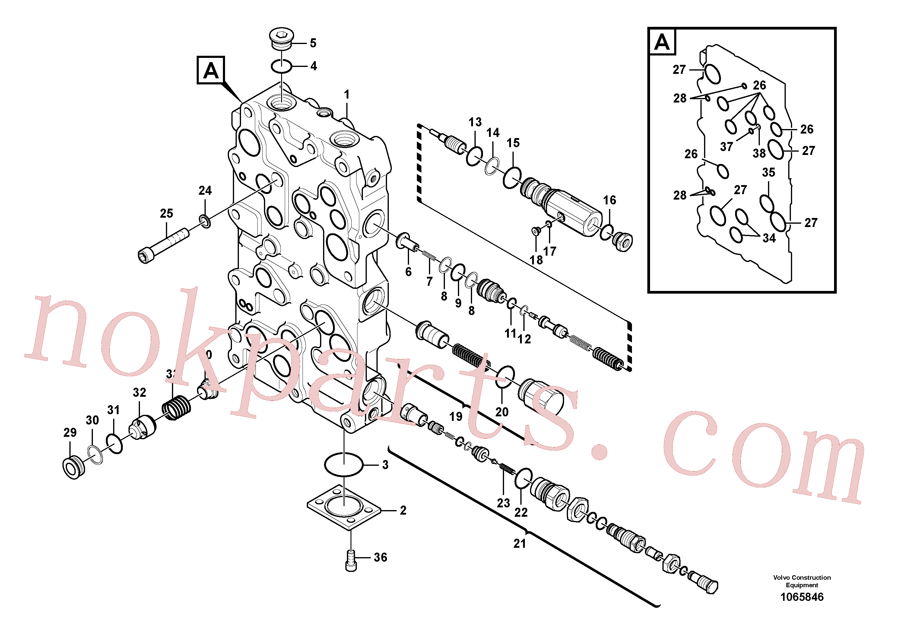 VOE14513155 for Volvo Main control valve(1065846 assembly)