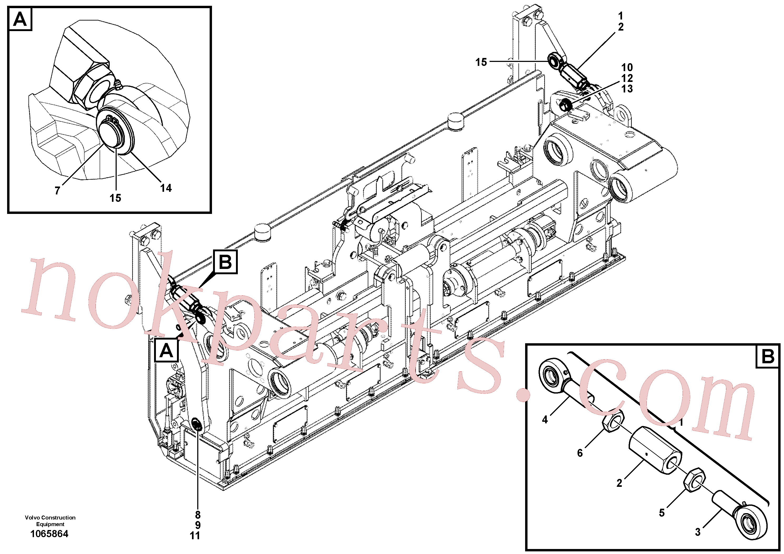 RM80743768 for Volvo Mounting parts for towing arms(1065864 assembly)