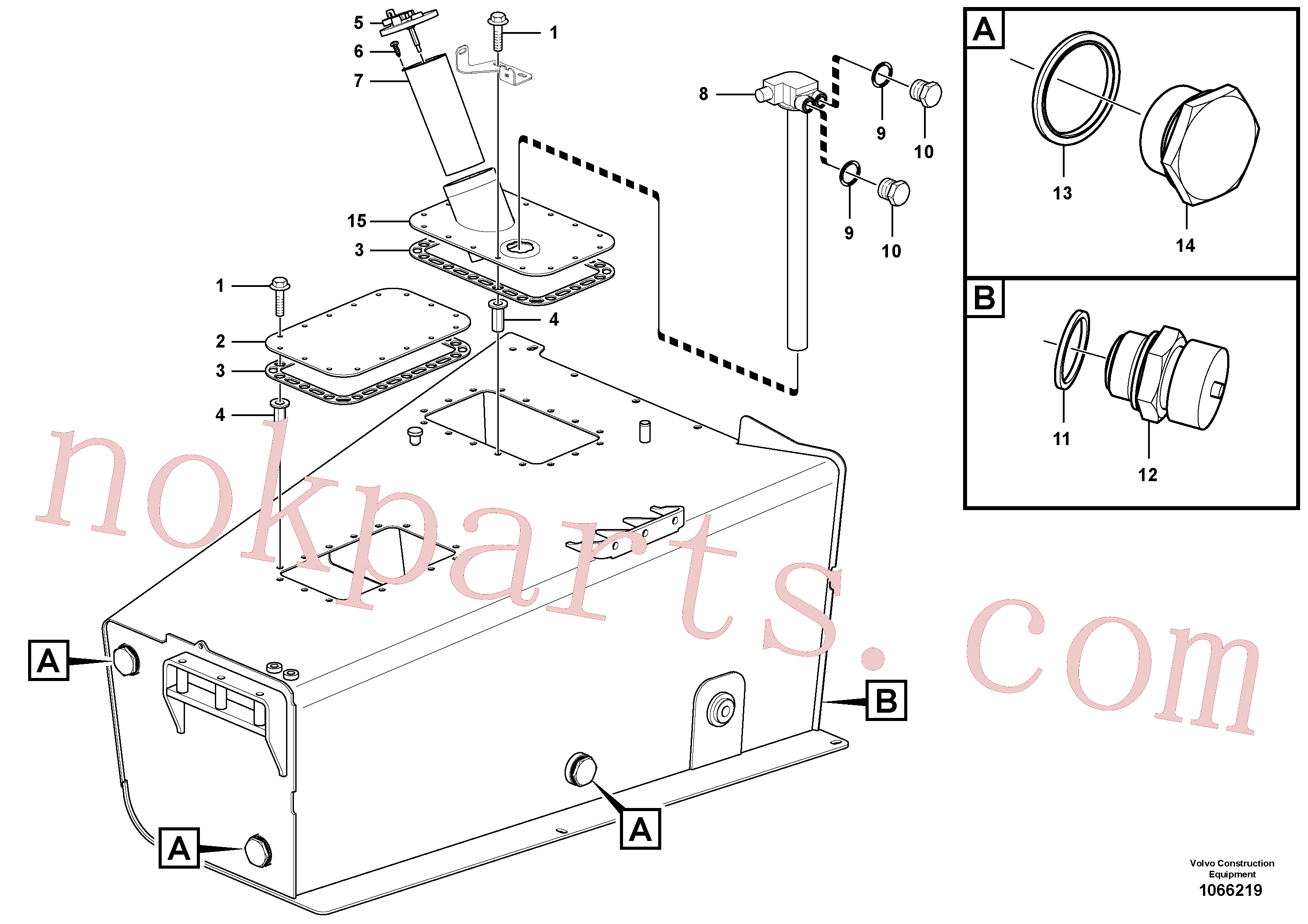 SA9426-20090 for Volvo Fuel tank(1066219 assembly)