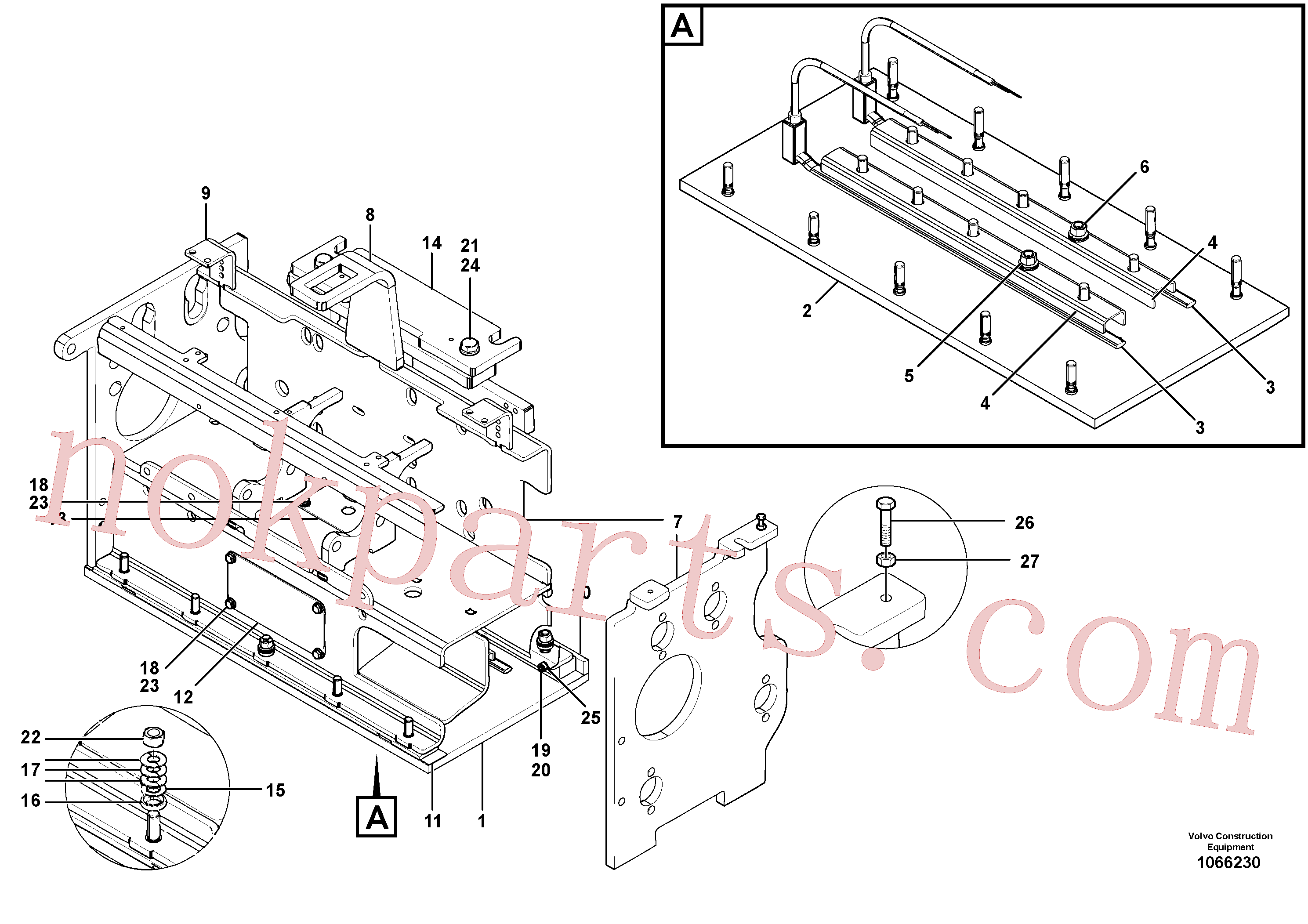 RM54456173 for Volvo Heating screed extension(1066230 assembly)