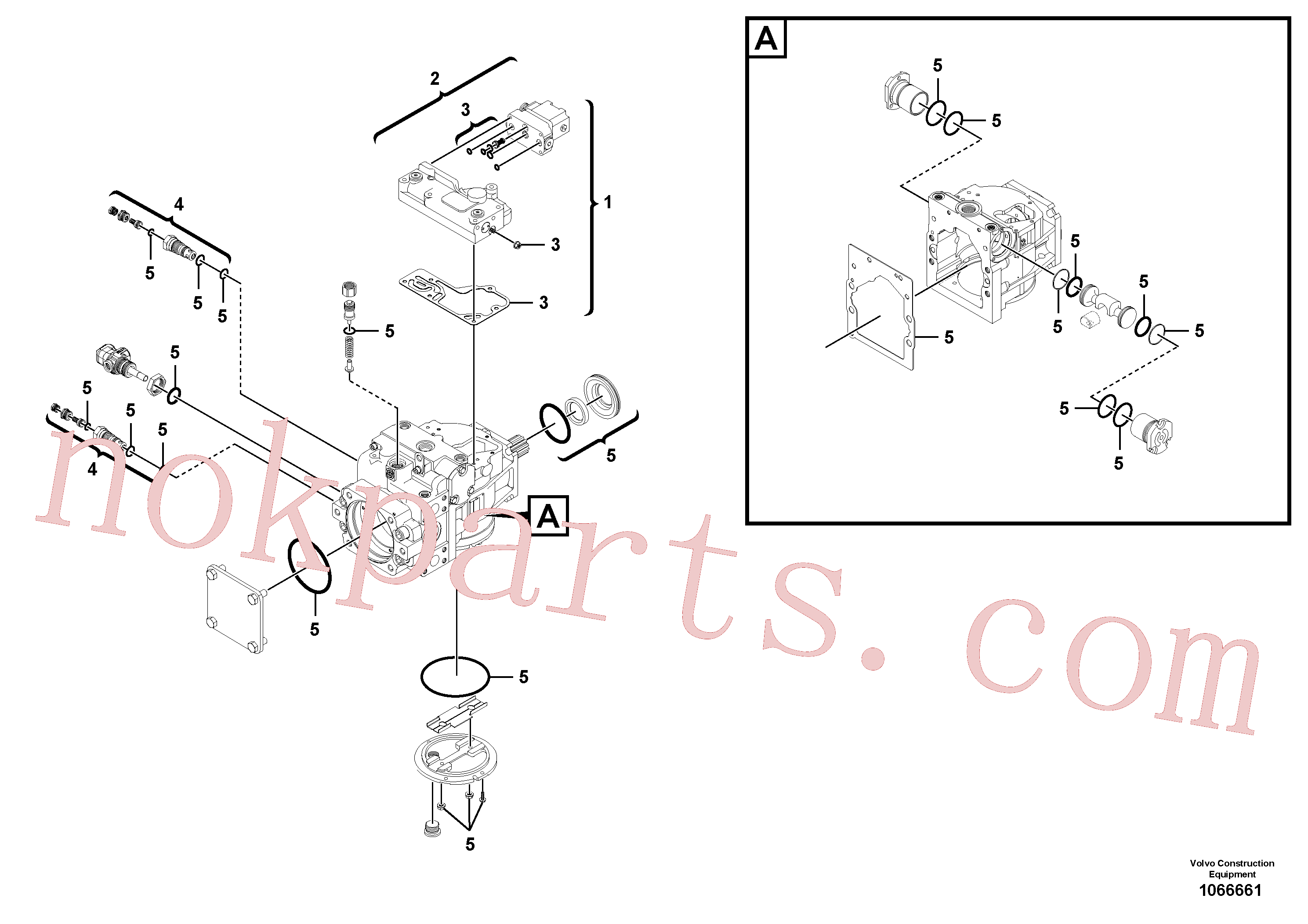 RM58921495 for Volvo Hydraulic pump(1066661 assembly)