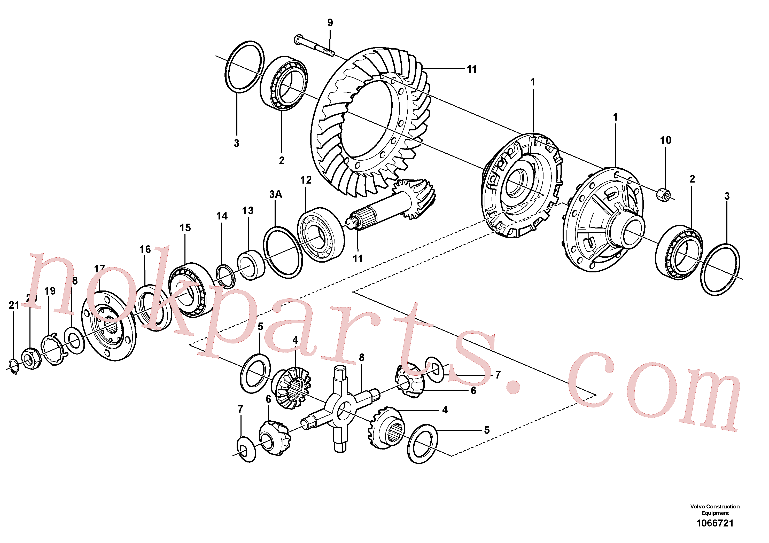 VOE56092 for Volvo Final drive, rear(1066721 assembly)