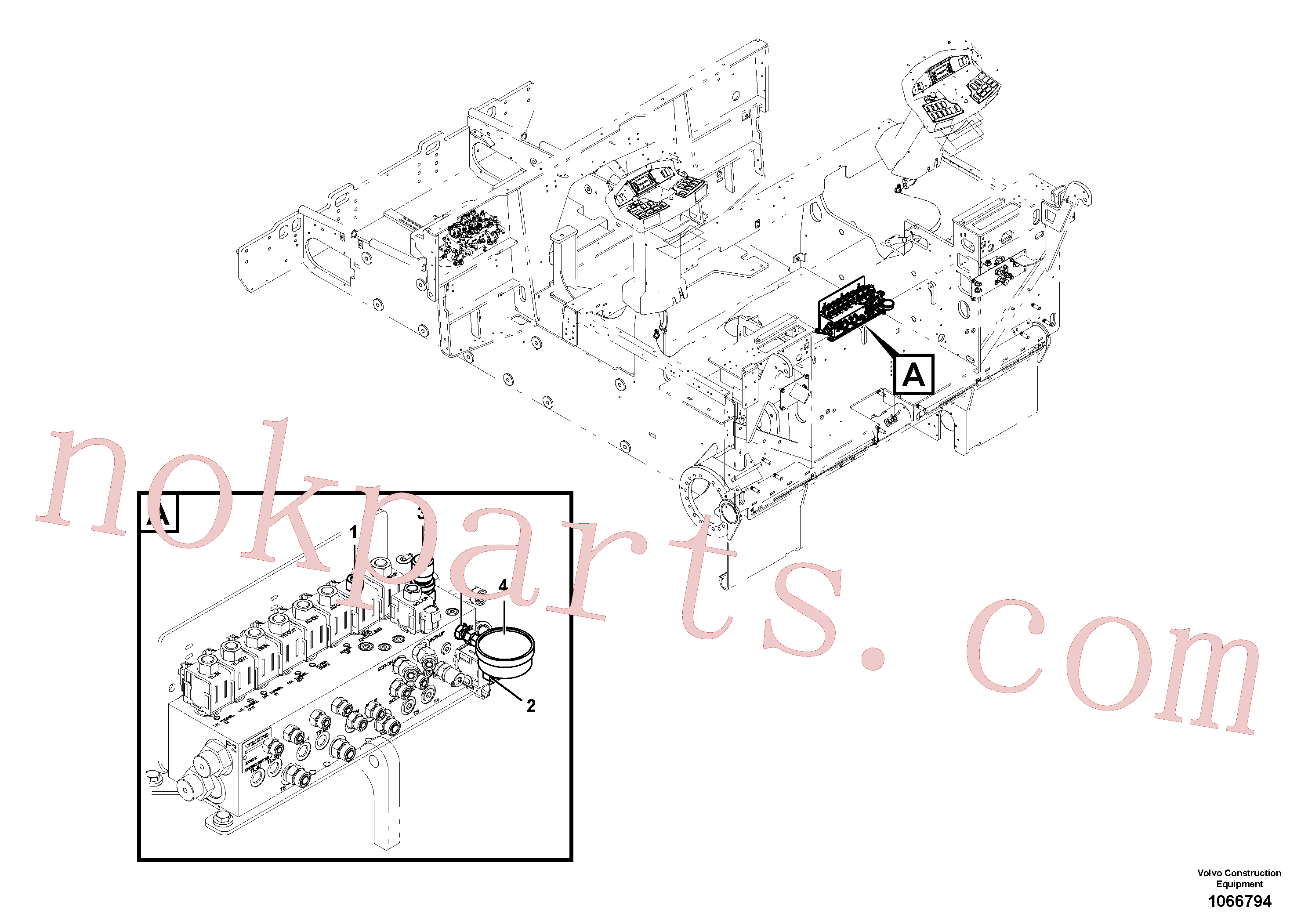 VOE12759099 for Volvo Hydraulic equipment(1066794 assembly)