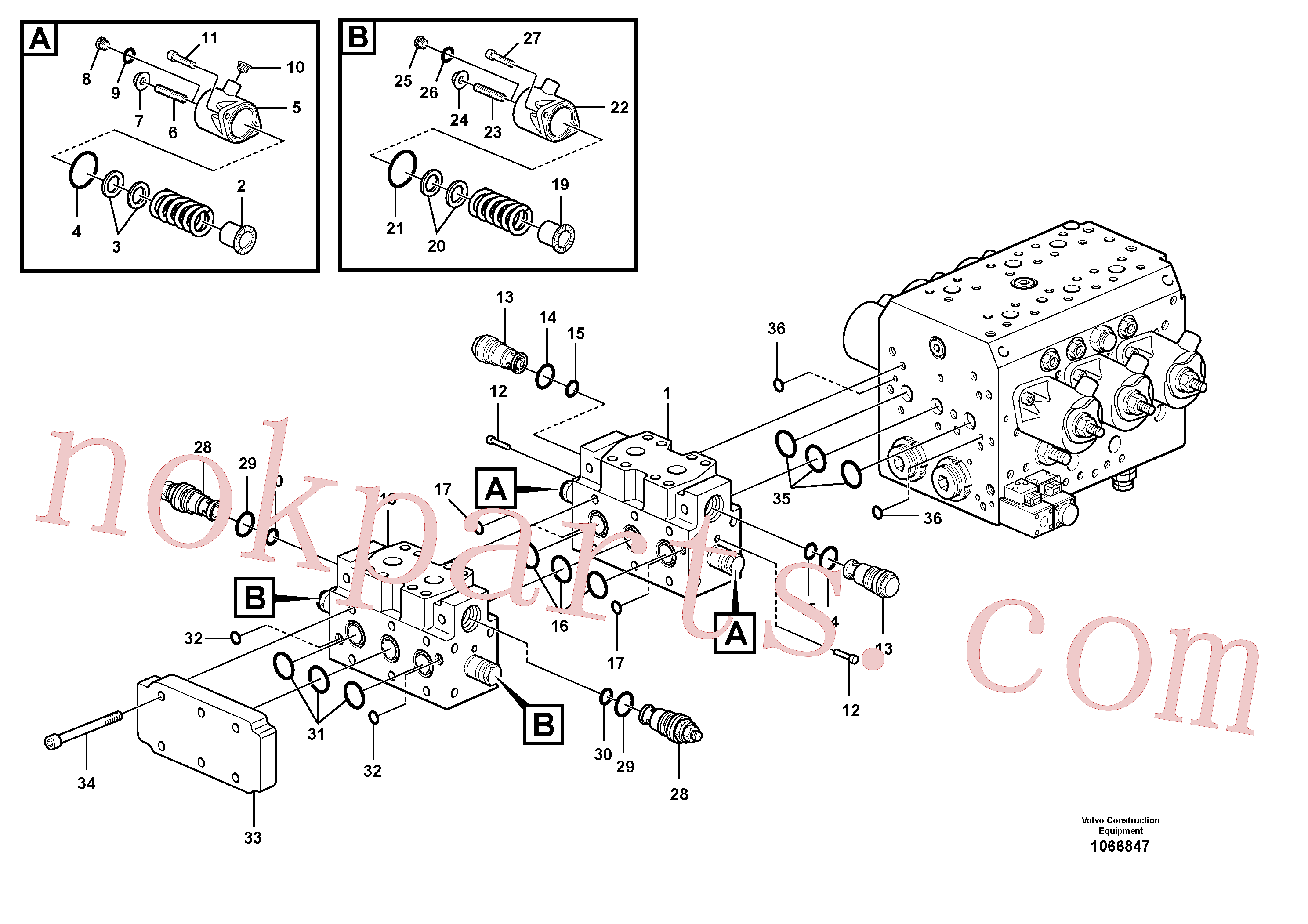 VOE11713222 for Volvo Hydraulic valve(1066847 assembly)