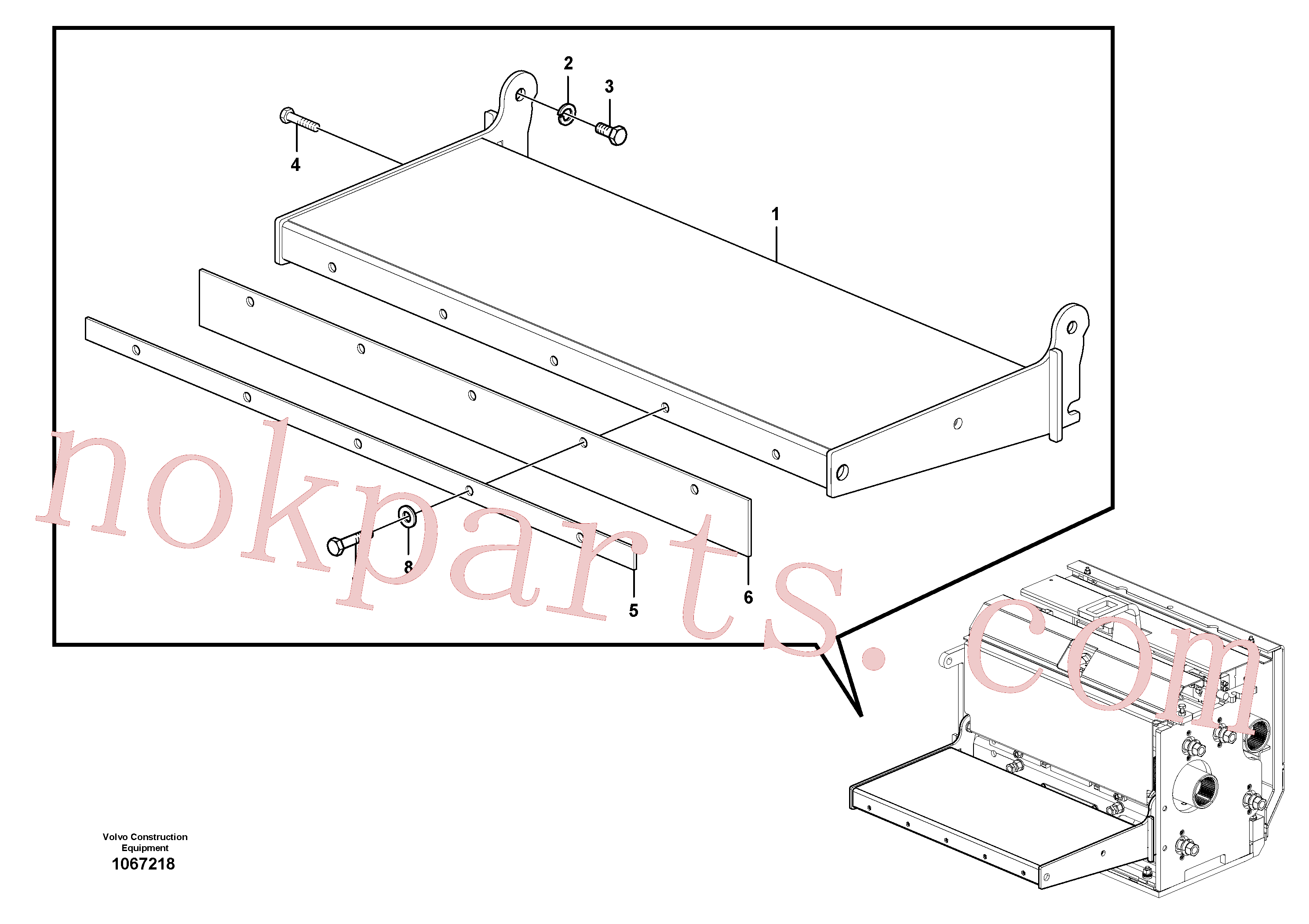 RM96702667 for Volvo Catwalk(1067218 assembly)
