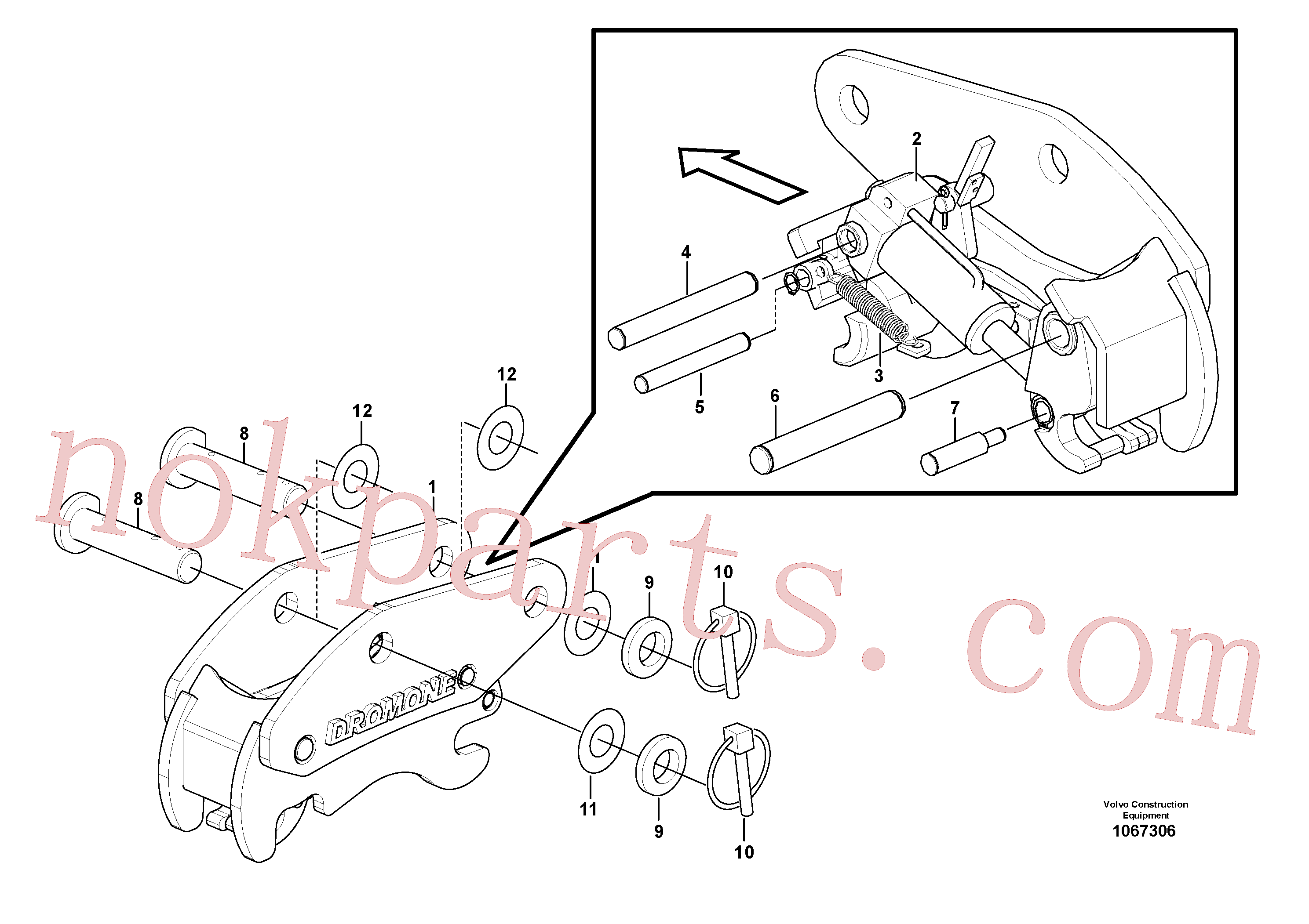 VOE17415395 for Volvo Hydraulic attachment bracket(1067306 assembly)