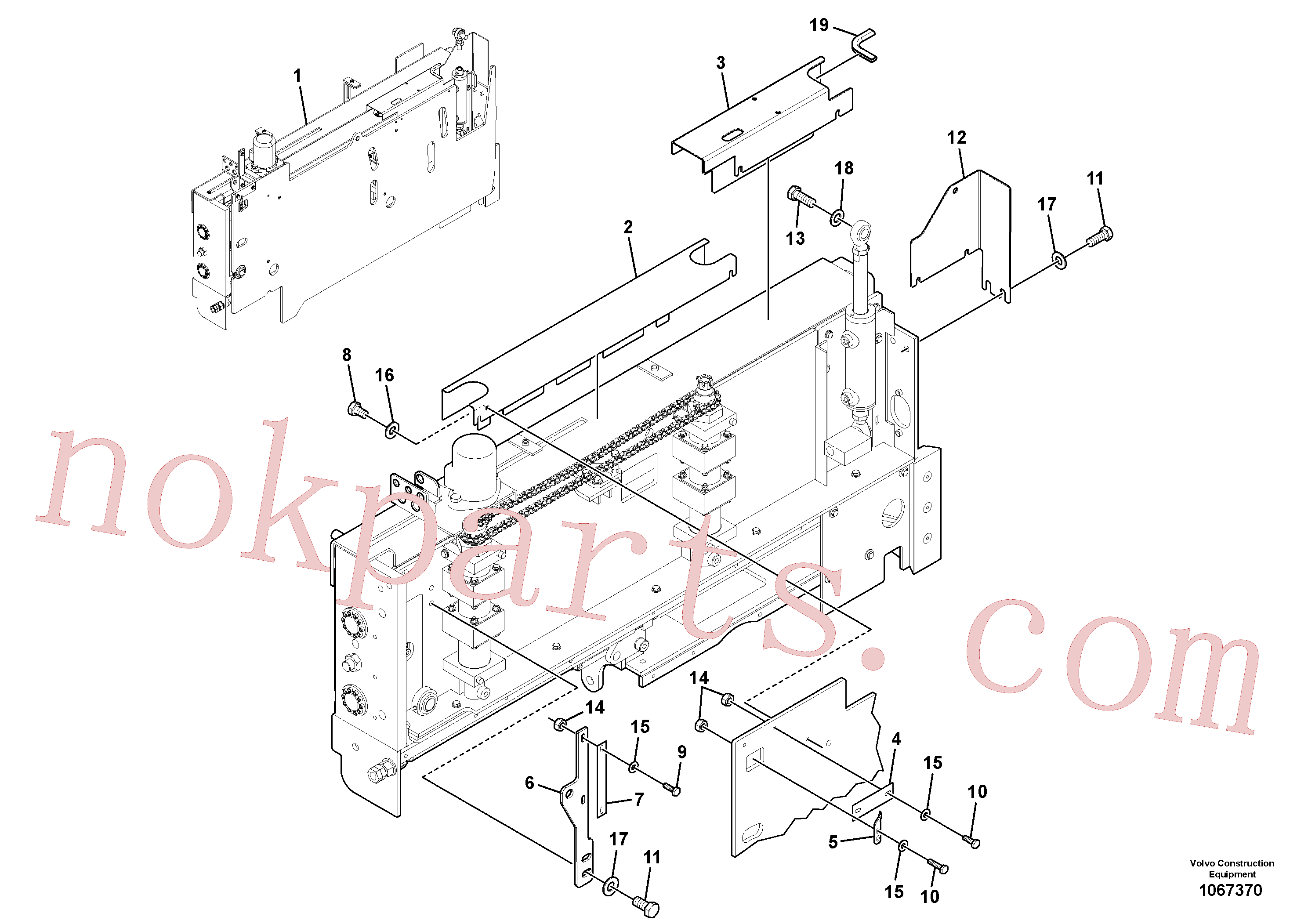 VOE50829654 for Volvo Extension Installation(1067370 assembly)