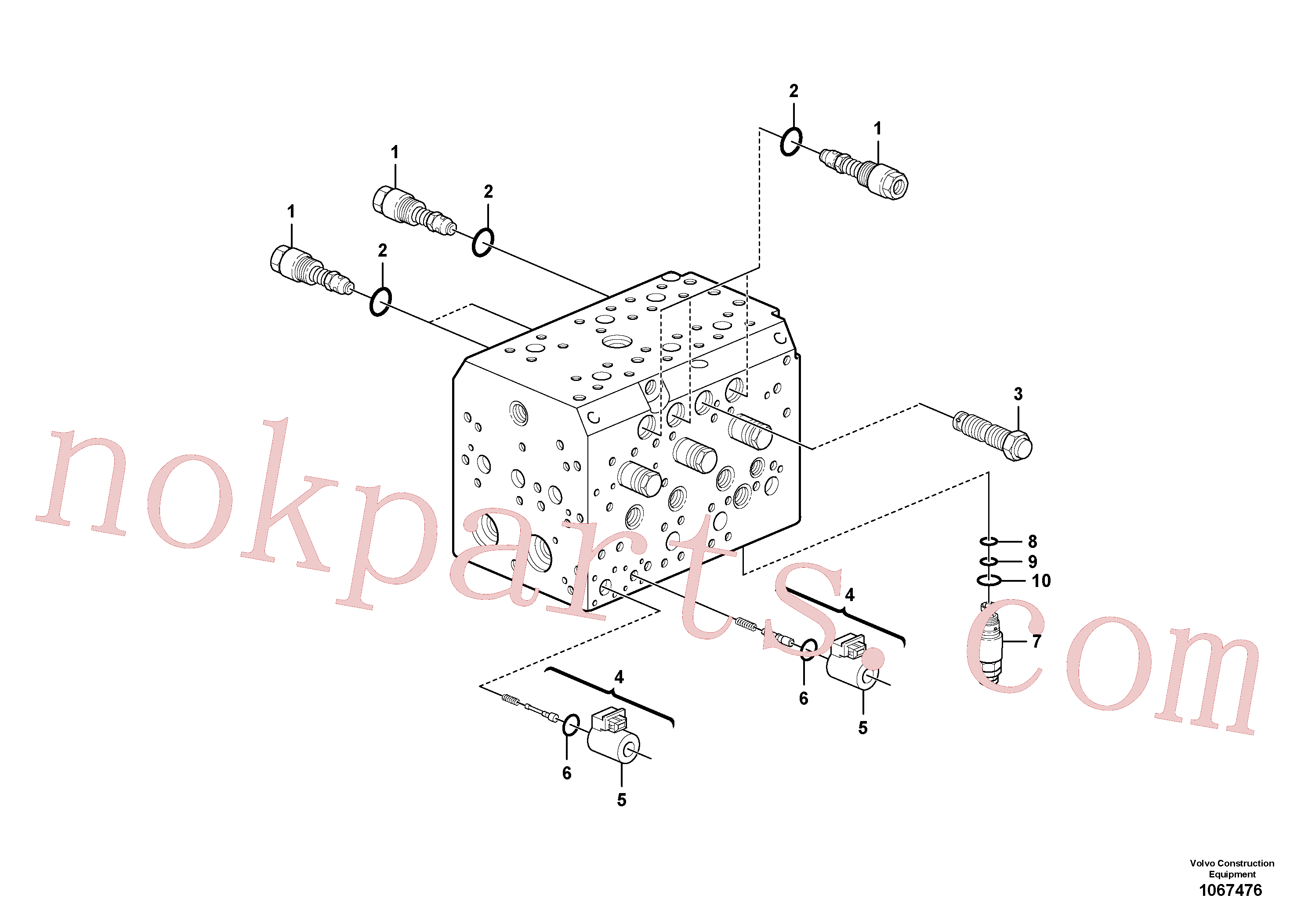 VOE14641020 for Volvo Valve(1067476 assembly)