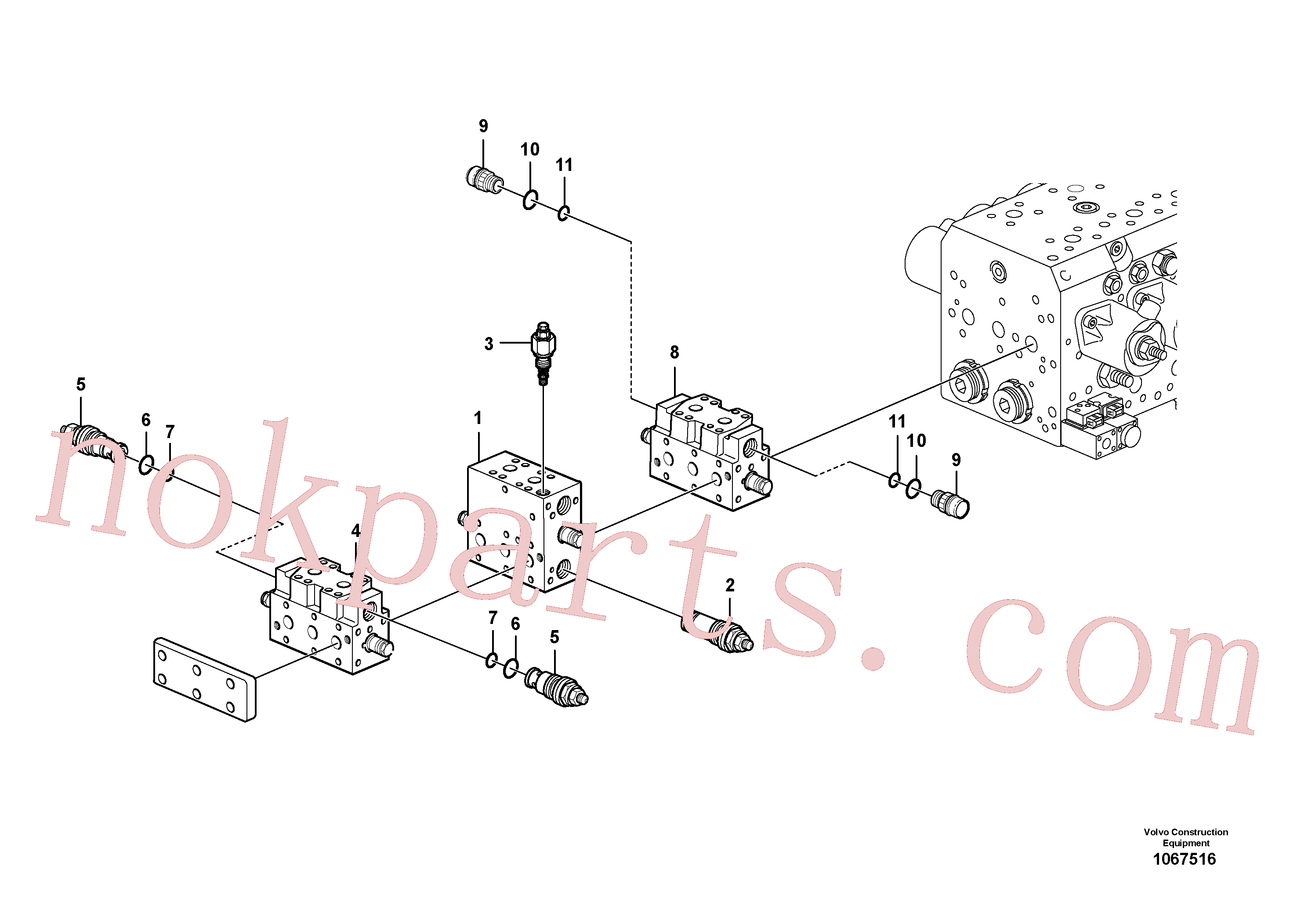 VOE11713222 for Volvo Valve(1067516 assembly)