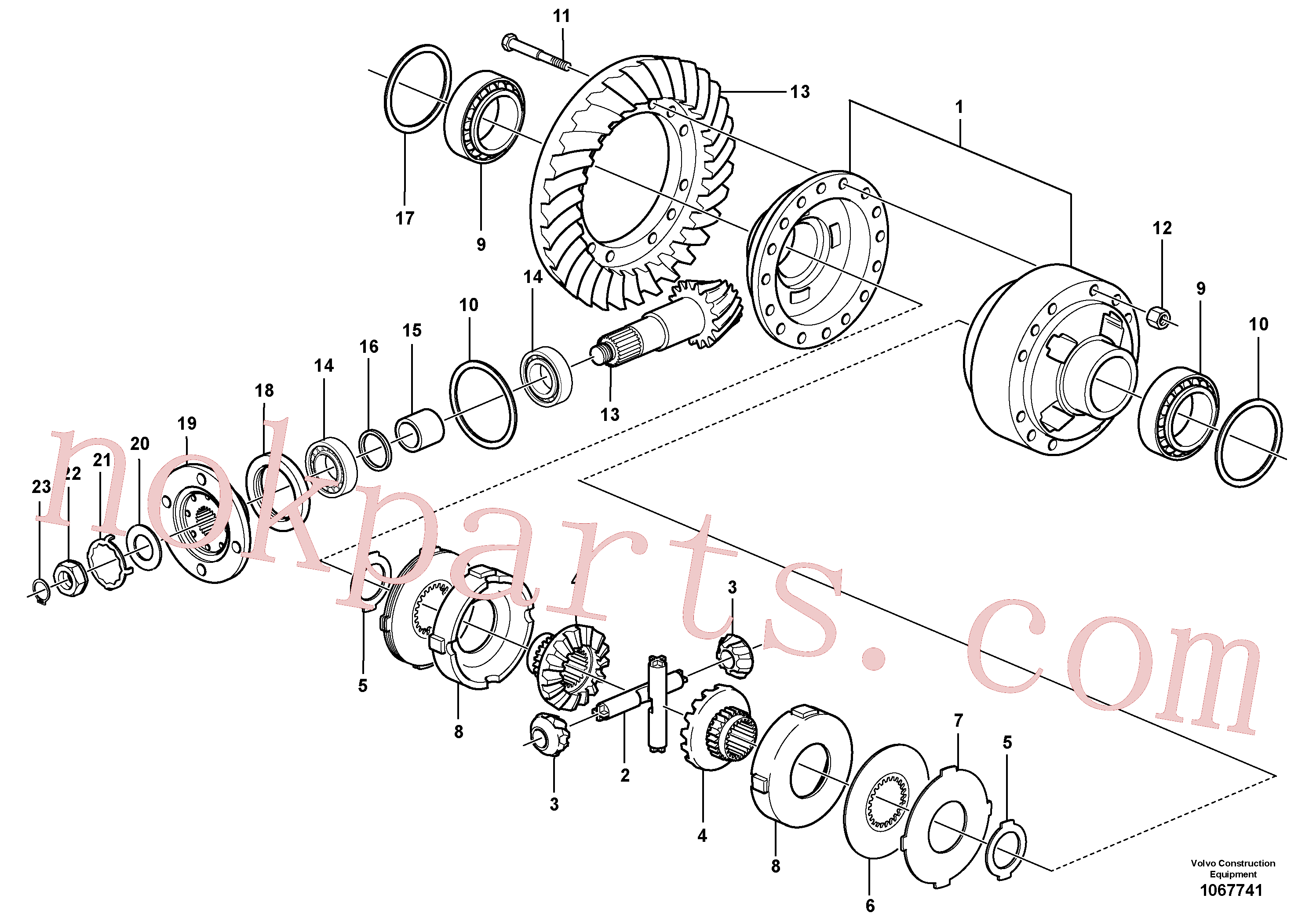 VOE11168042 for Volvo Final drive, rear(1067741 assembly)
