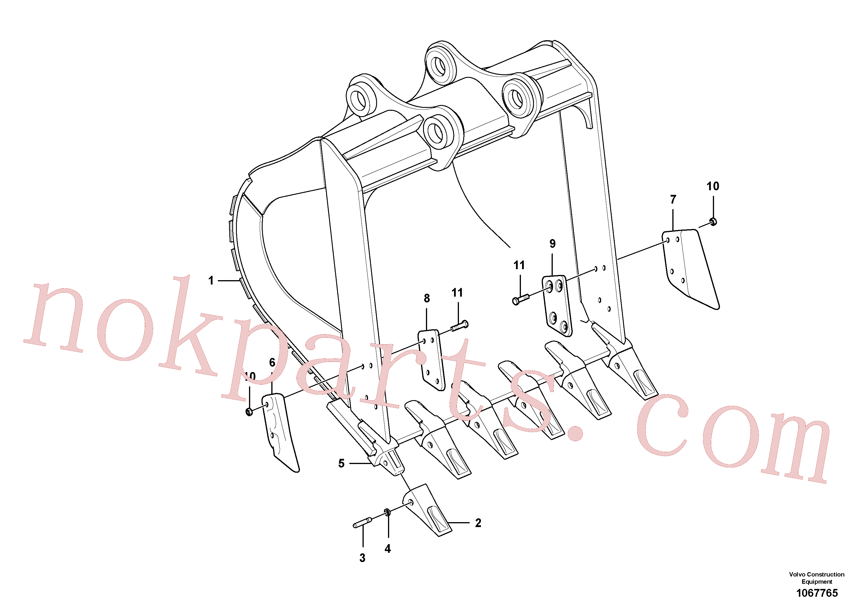 VOE14530544 for Volvo Bucket(1067765 assembly)