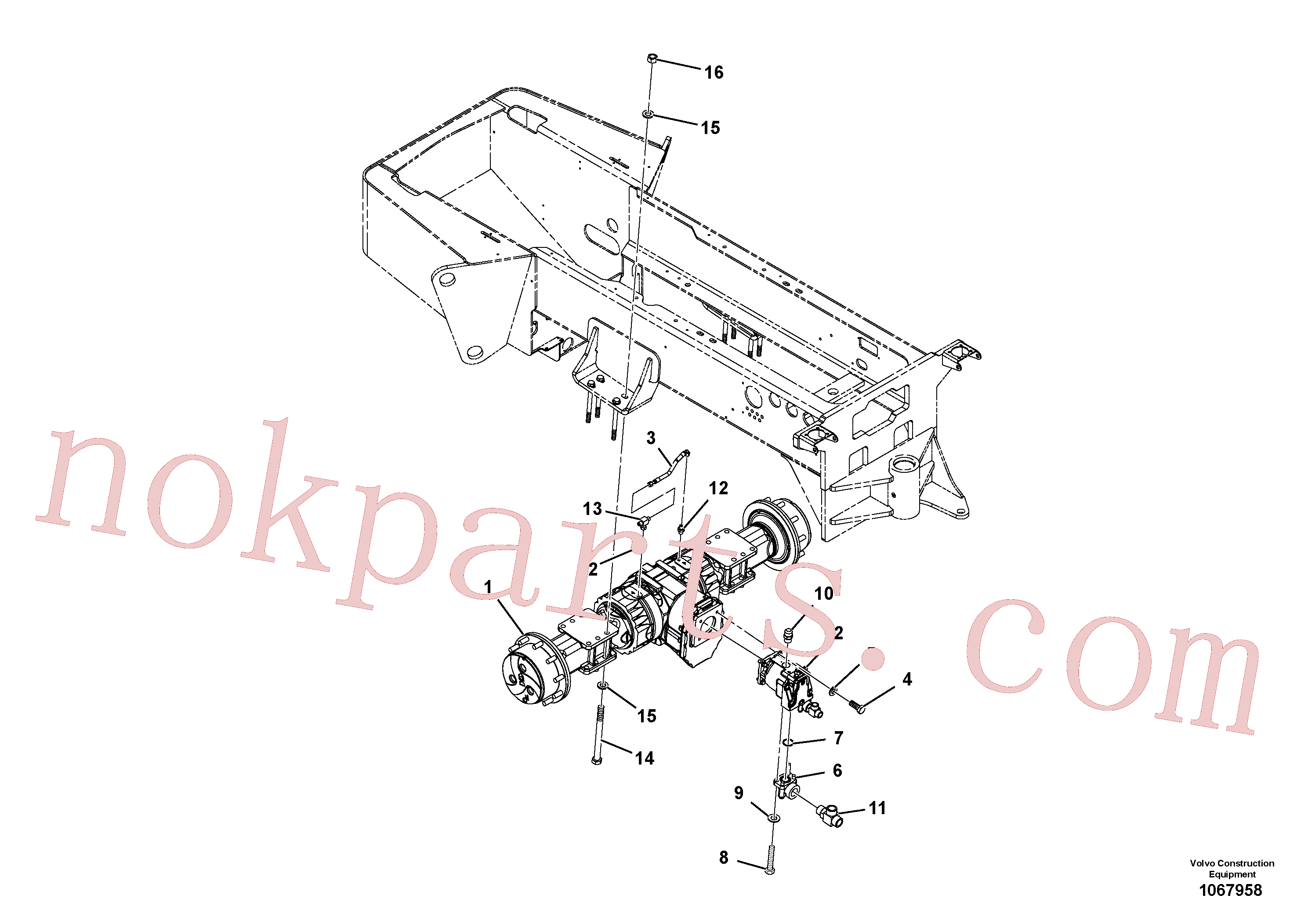 RM96703665 for Volvo Axle Installation(1067958 assembly)