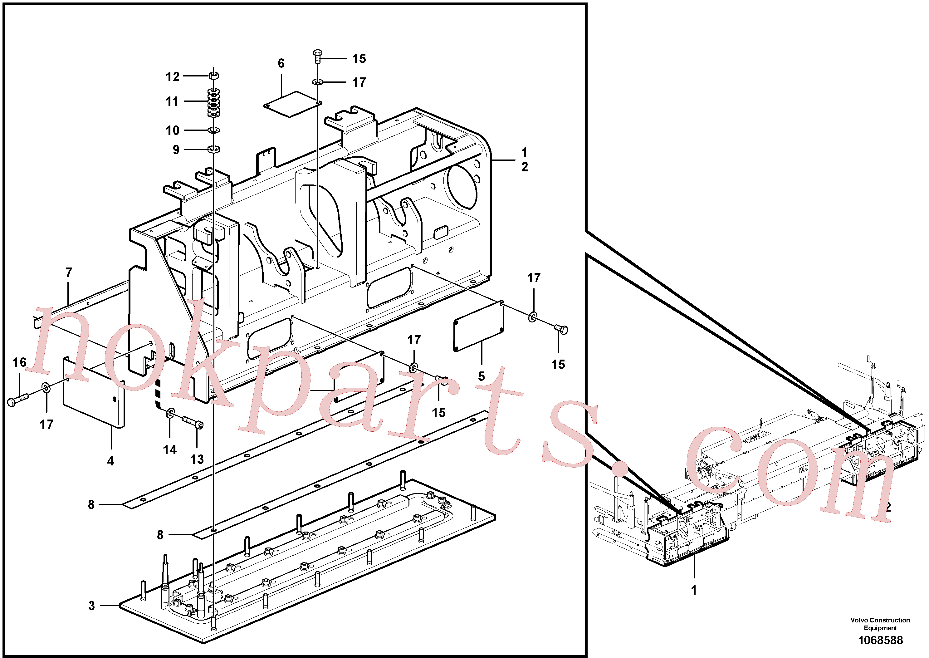 RM54482278 for Volvo Heated body for extendable screed(1068588 assembly)