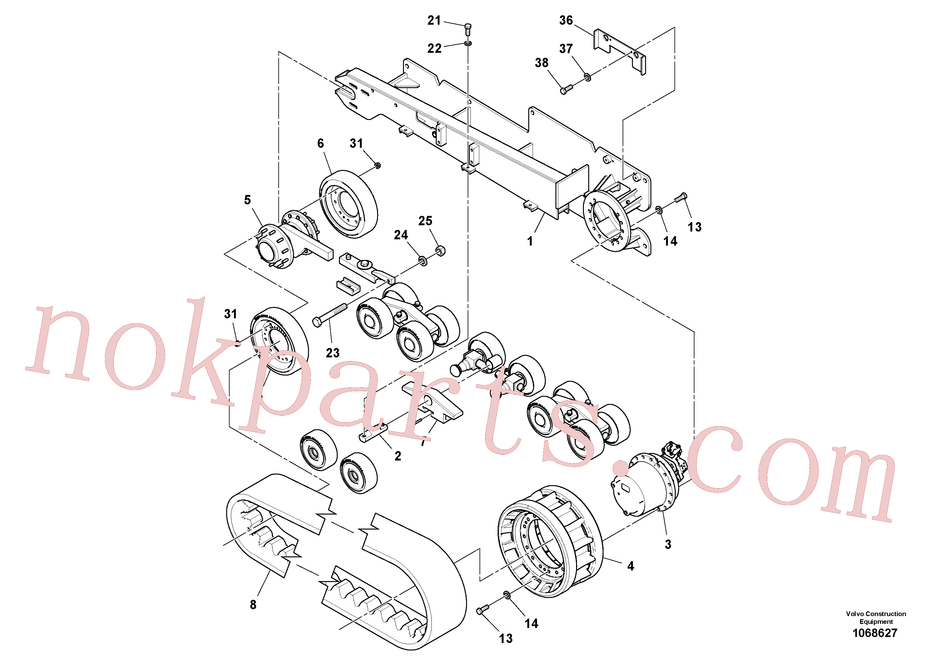 RM95995056 for Volvo Track Frame Assembly(1068627 assembly)