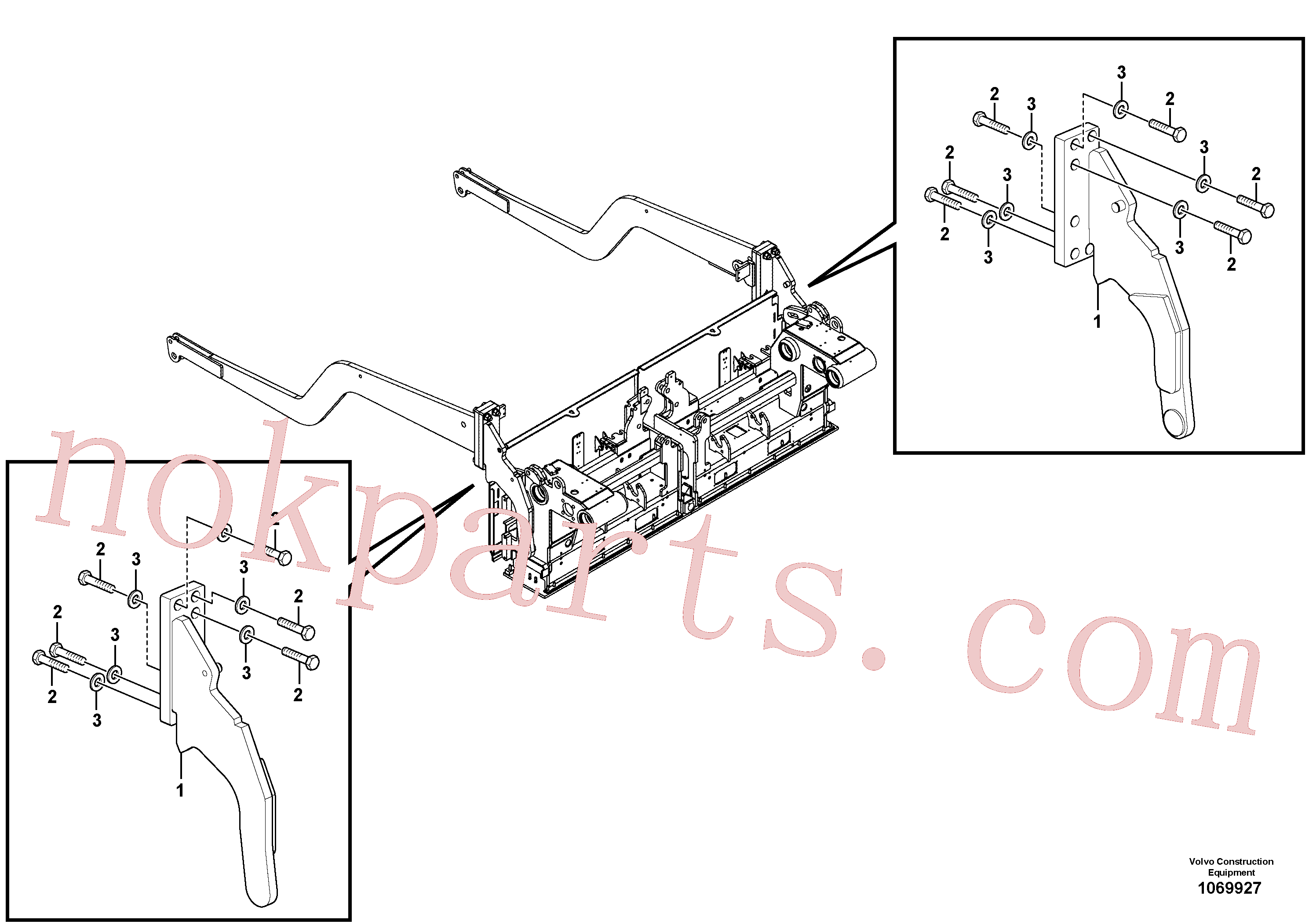 RM14261036 for Volvo Towing arm behind(1069927 assembly)