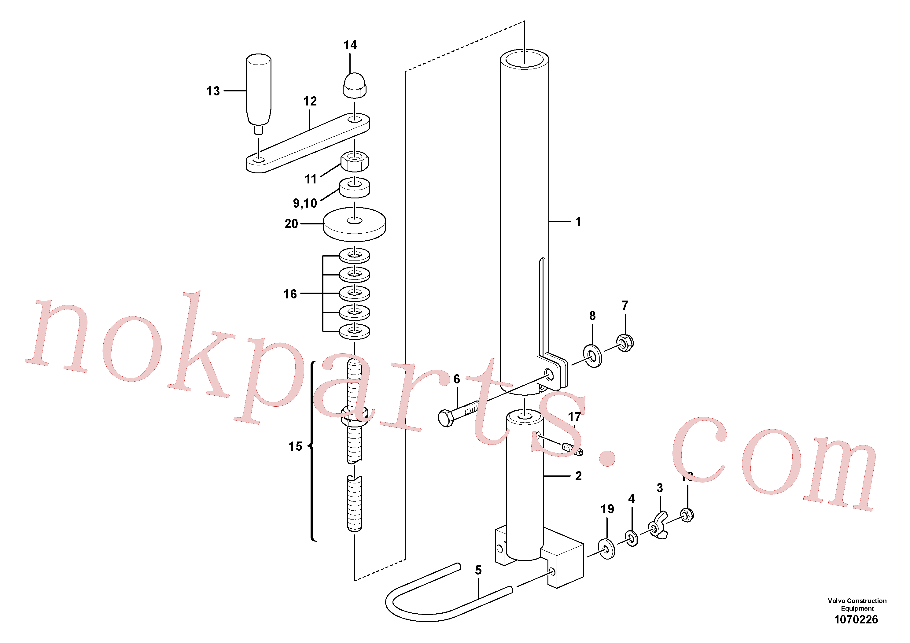 RM80811615 for Volvo Mechanical Control Assembly(1070226 assembly)