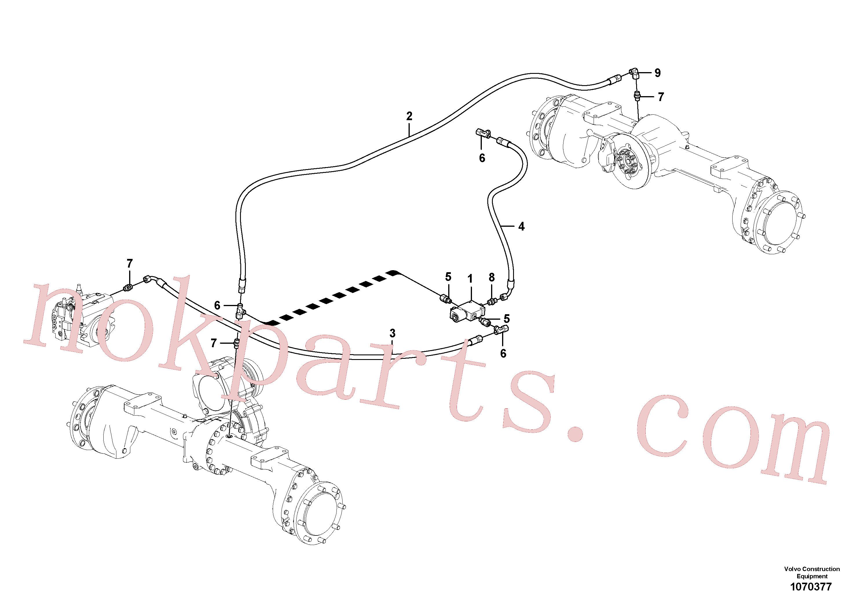 VOE11306420 for Volvo Differential lock(1070377 assembly)